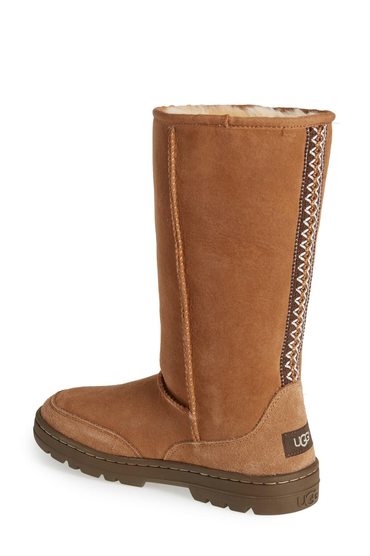 9841301c830 Lyst - UGG (r) Ultra Revival Genuine Shearling Tall Boot (women ...