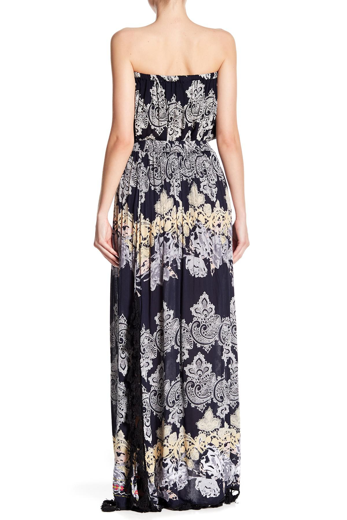 b201a8187 Raga Vanessa Tassel Trim Maxi Skirt in Blue - Lyst