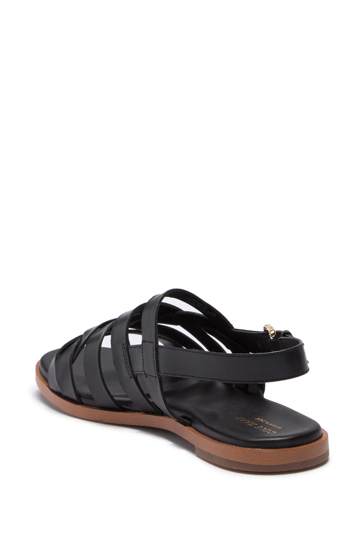 6c6db6072b03 Cole Haan - Black Braelyn Grand Braided Flat Sandal - Lyst. View fullscreen