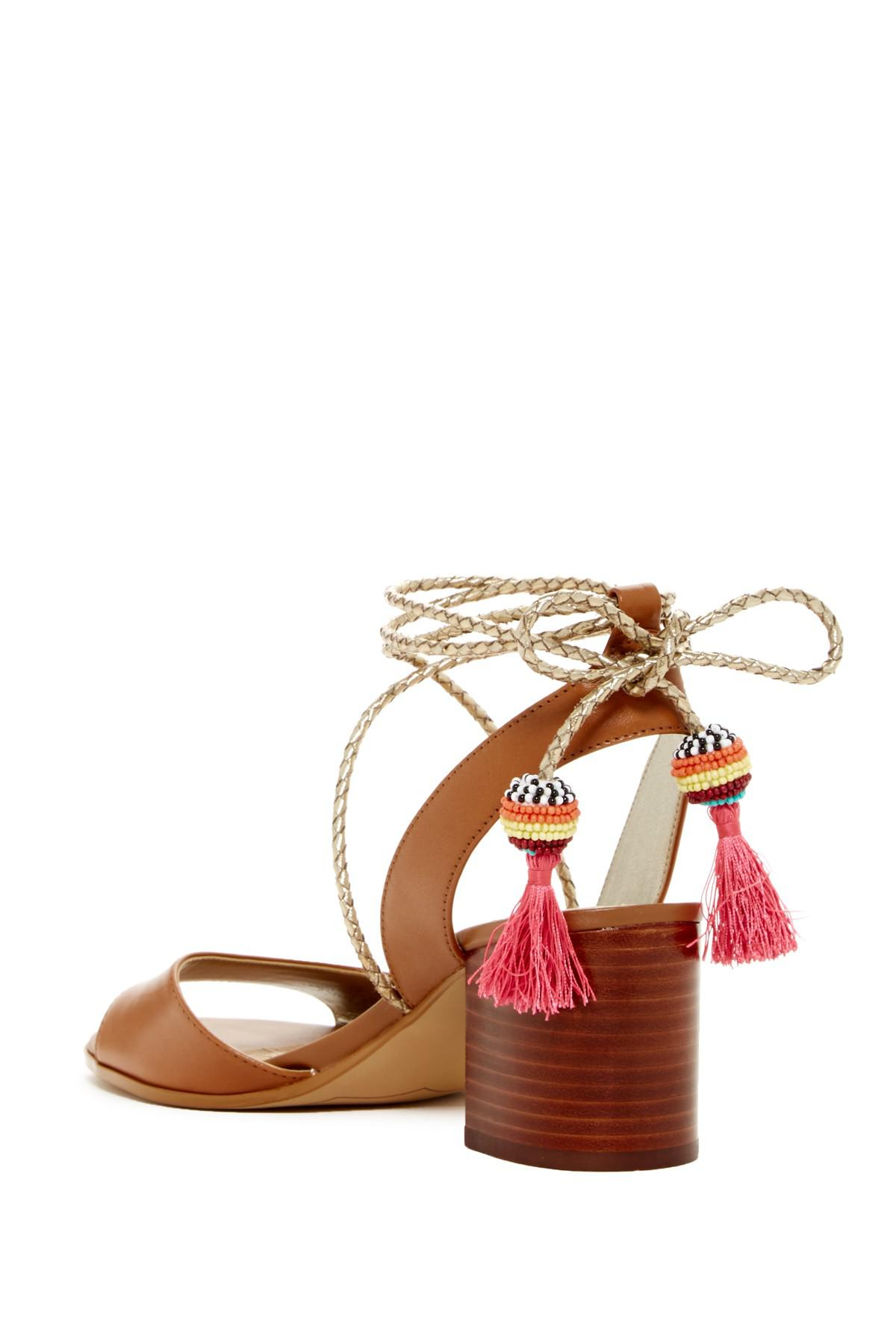 d1d321053878 Lyst - Sam Edelman Shani Block Heel Sandal in Brown
