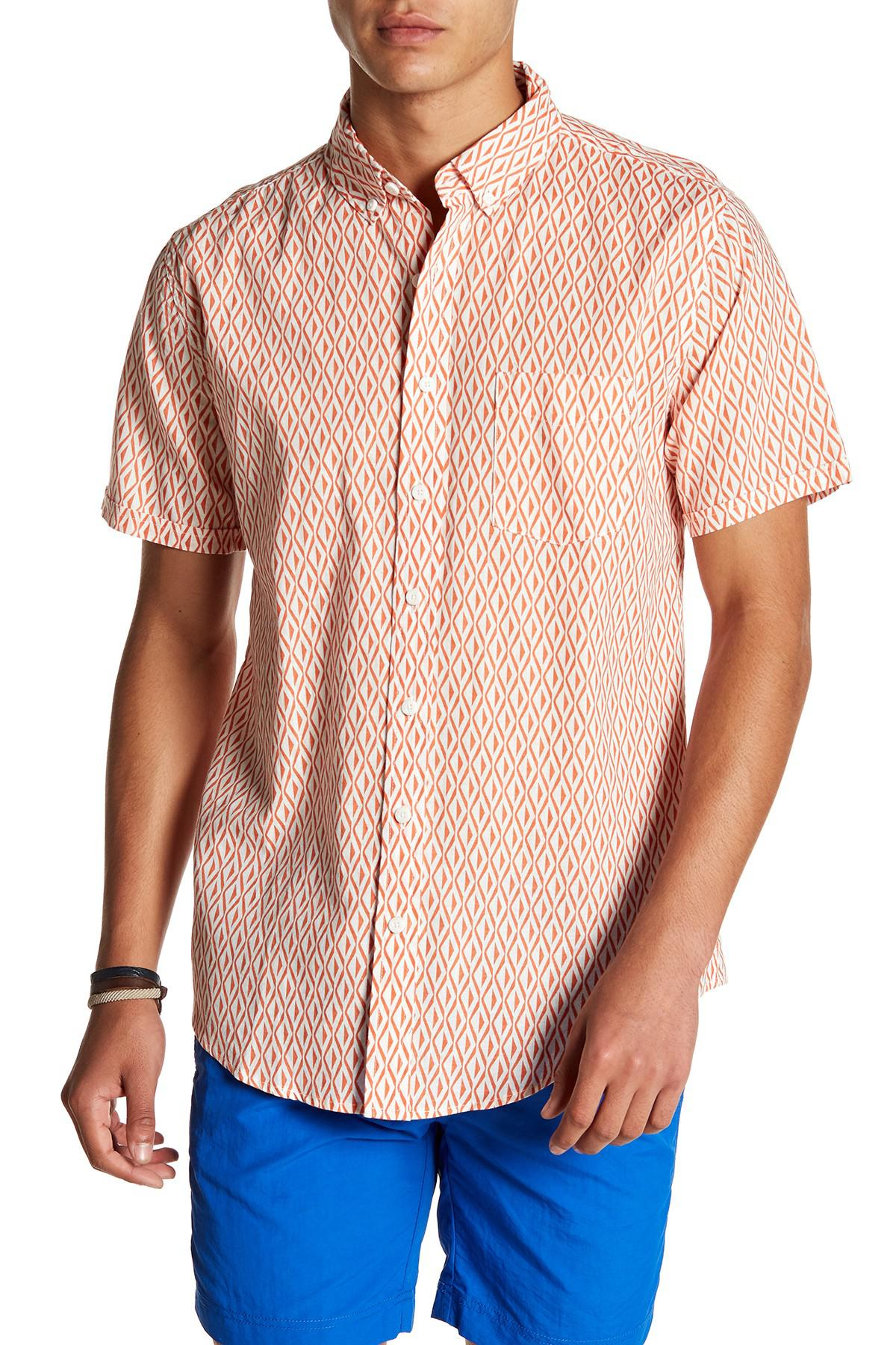 e7da30ba93 Lyst - Onia Jack Print Short Sleeve Trim Fit Linen Shirt for Men