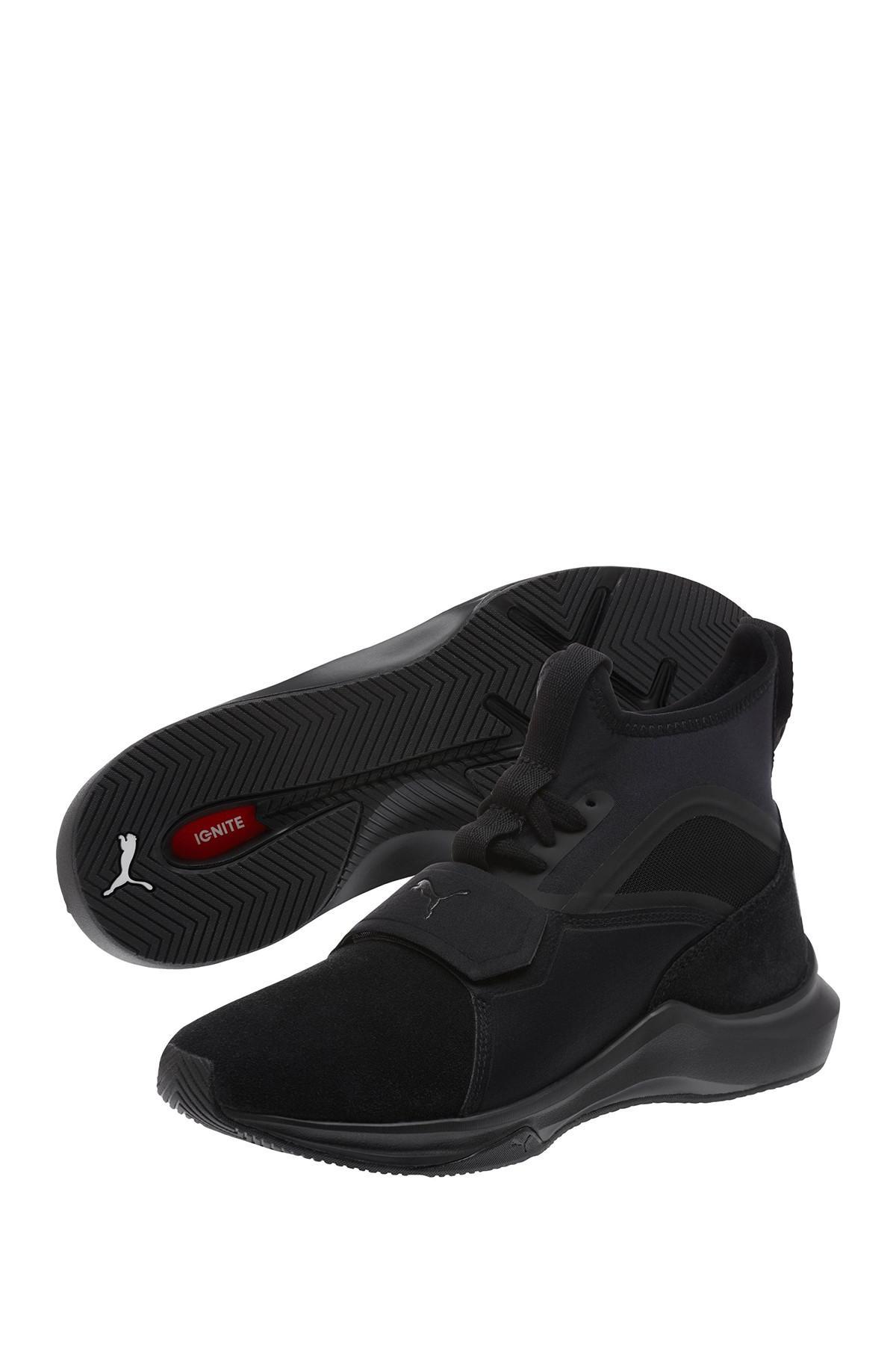 efa0610dc78 Lyst - PUMA Phenom Suede Training Sneaker in Black