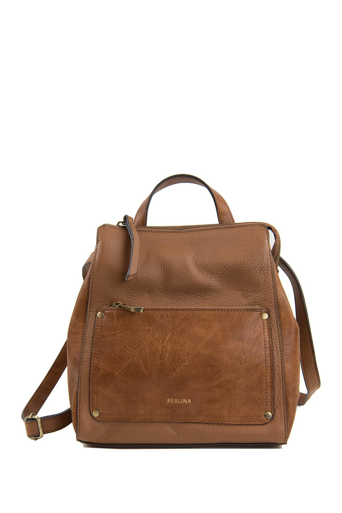 cfe4b940bb6 Perlina Judi Leather Convertible Backpack in Brown - Lyst