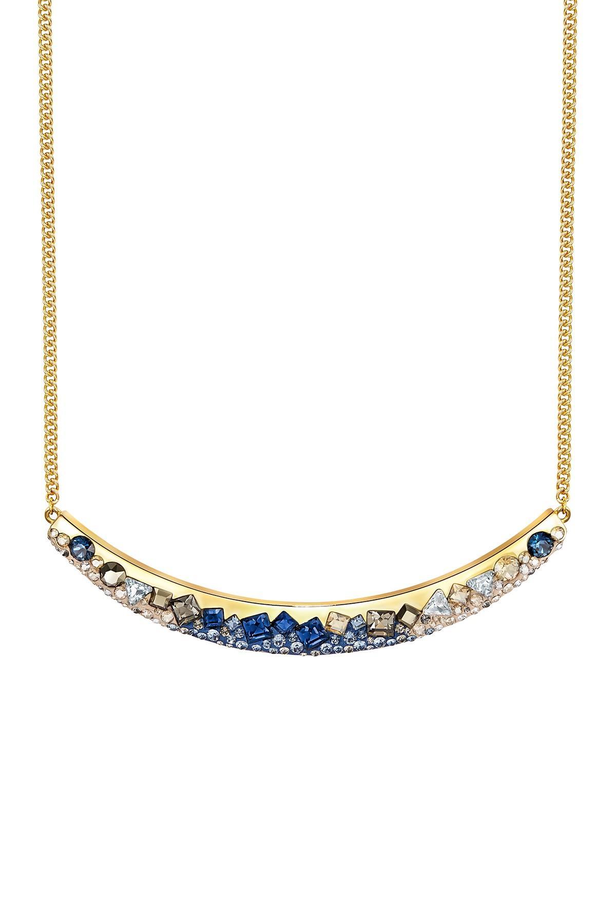 ec8c98526 Lyst - Swarovski Freckle Cluster Crystal Pendant Necklace in Blue