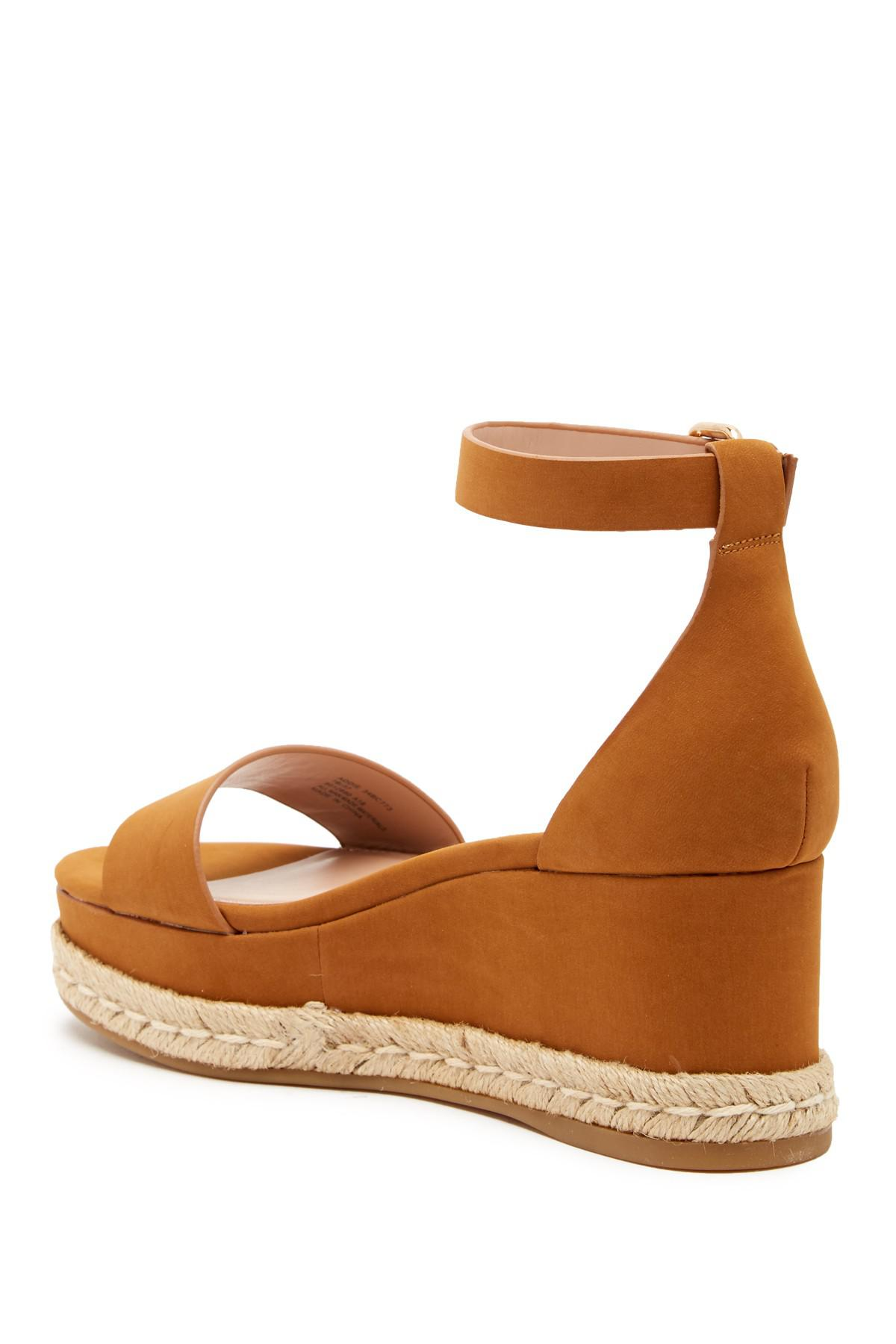 91642c95c6a Lyst - BCBGeneration Addie Wedge Sandal in Brown