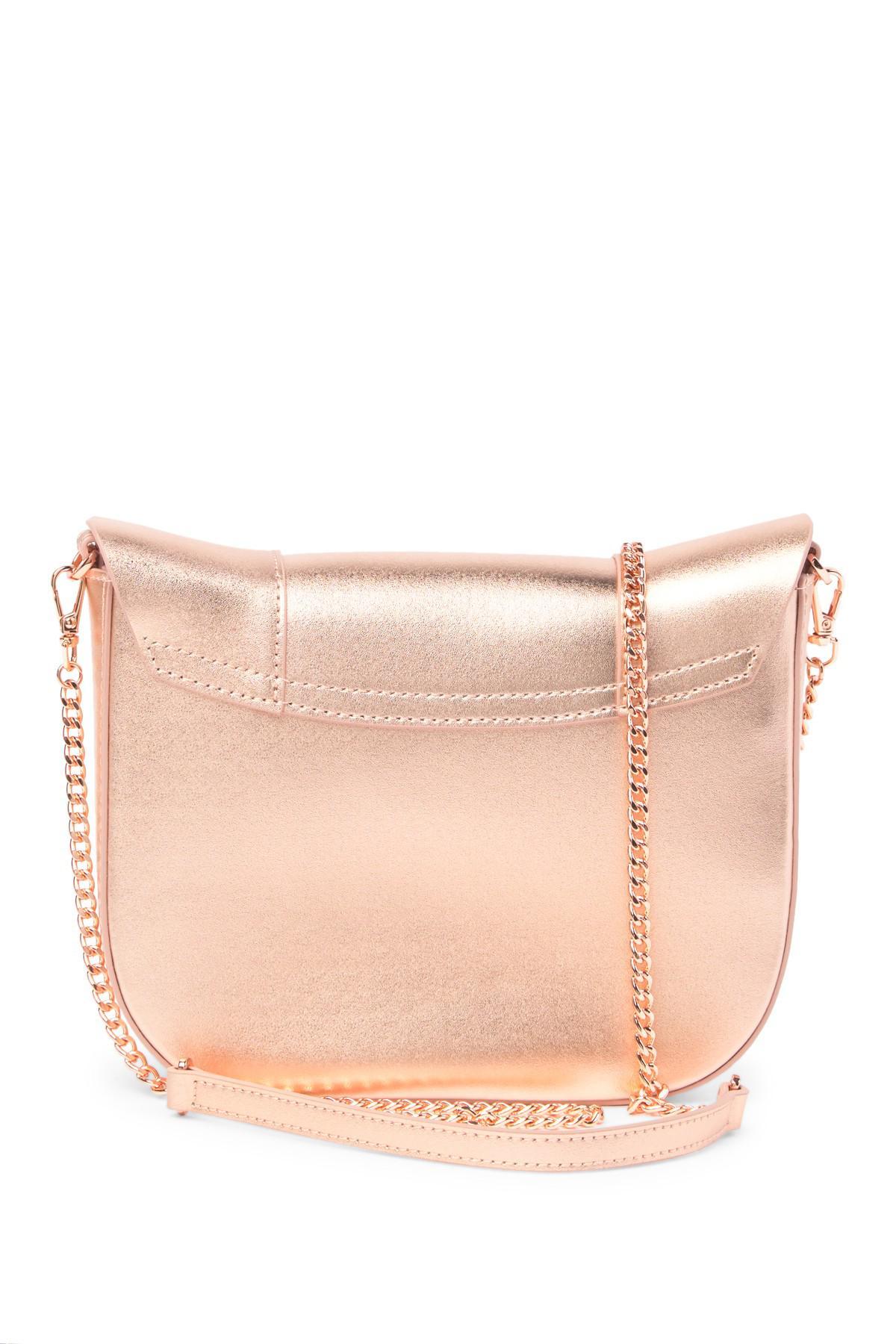 8b2a212ebd Lyst - Ted Baker Barkley Dog Leather Crossbody Bag in Pink