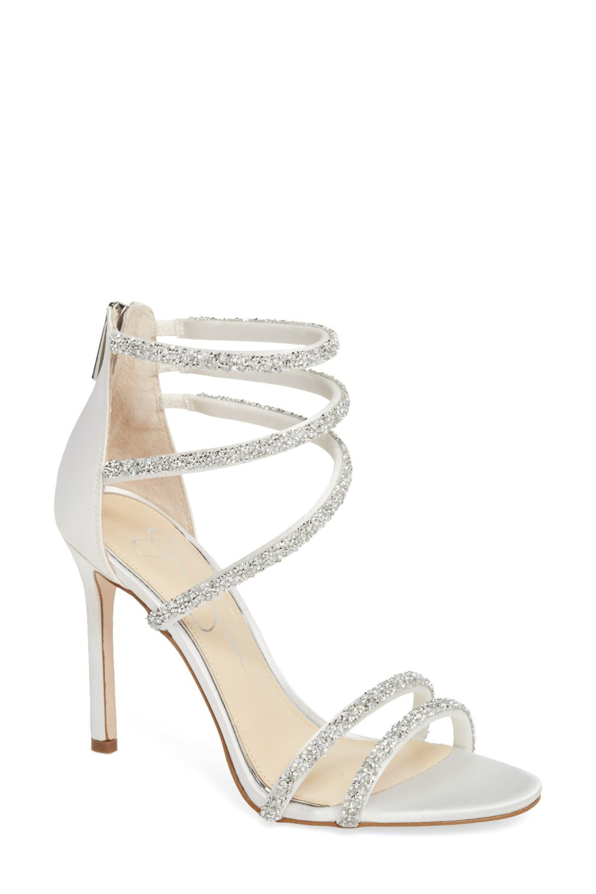 41ad1ce1ead Lyst - Jessica Simpson Jamalee Glitter Sandal (women) in White