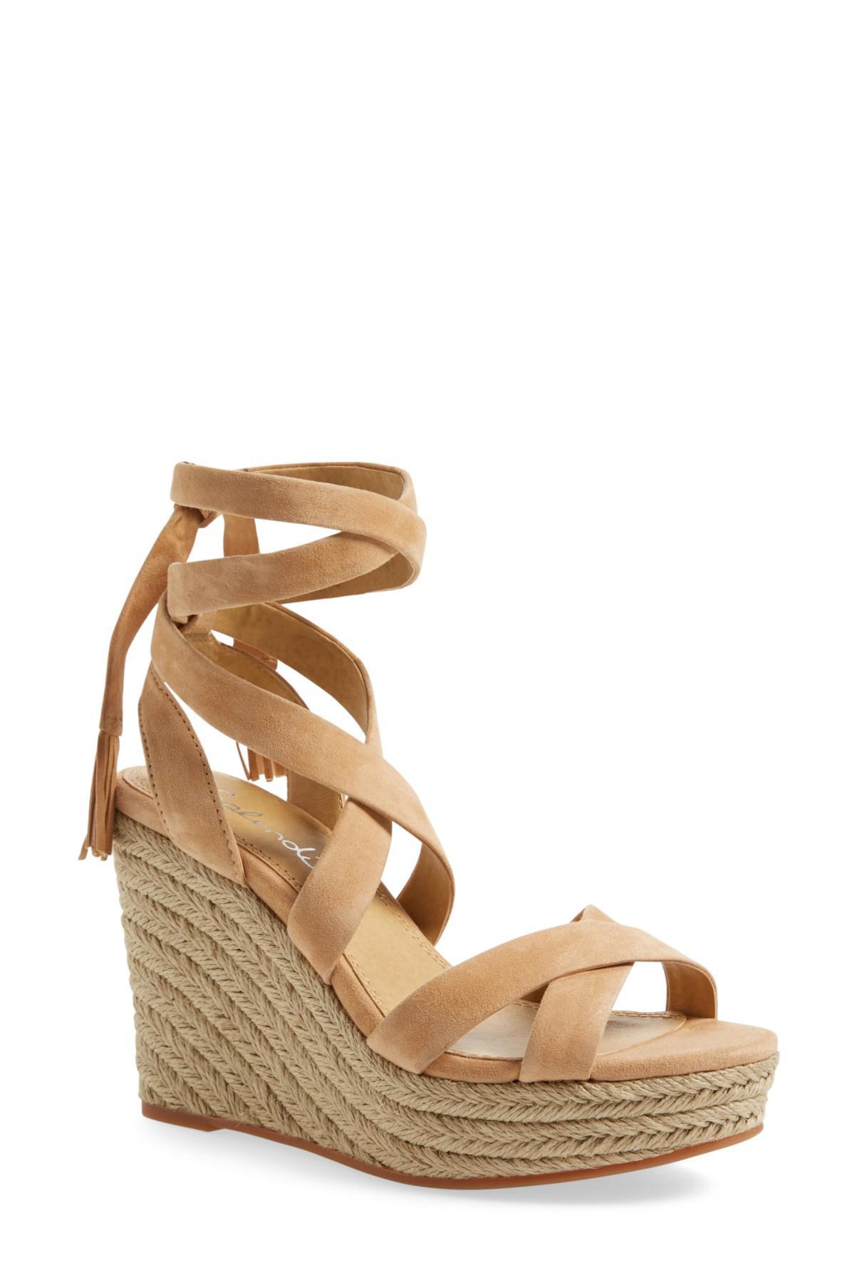 c30e1e9454b Lyst - Splendid Janice Espadrille Wedge Sandal in Natural