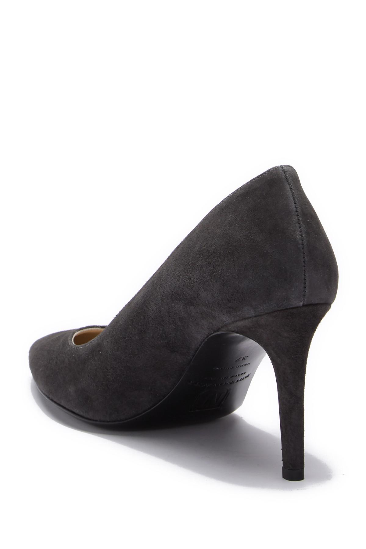 a3848fef4f Bruno Magli Milan Pointed Toe Pump in Gray - Lyst
