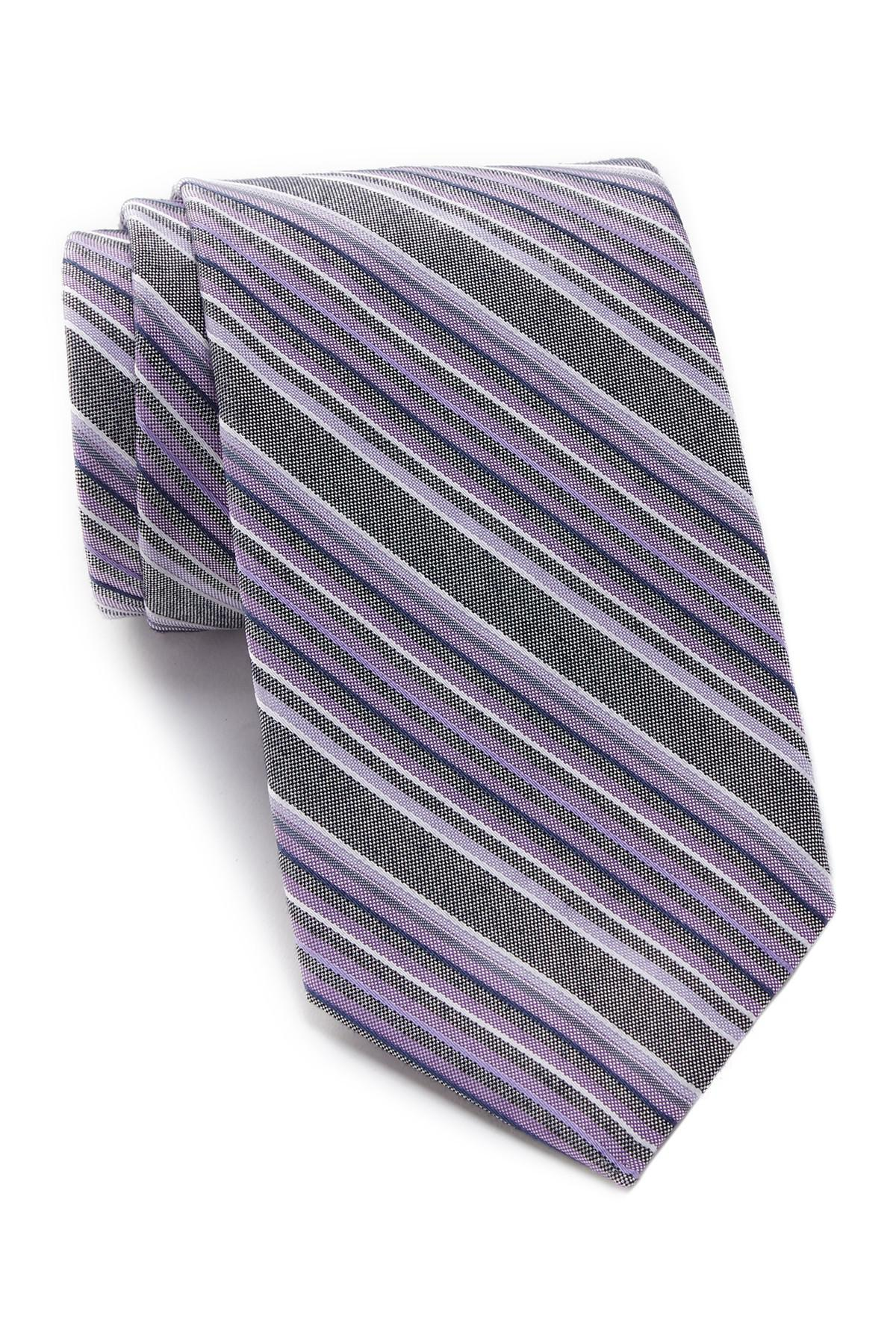 f660b6adfe6 Lyst - Calvin Klein Denim Multi-stripe Tie in Purple for Men