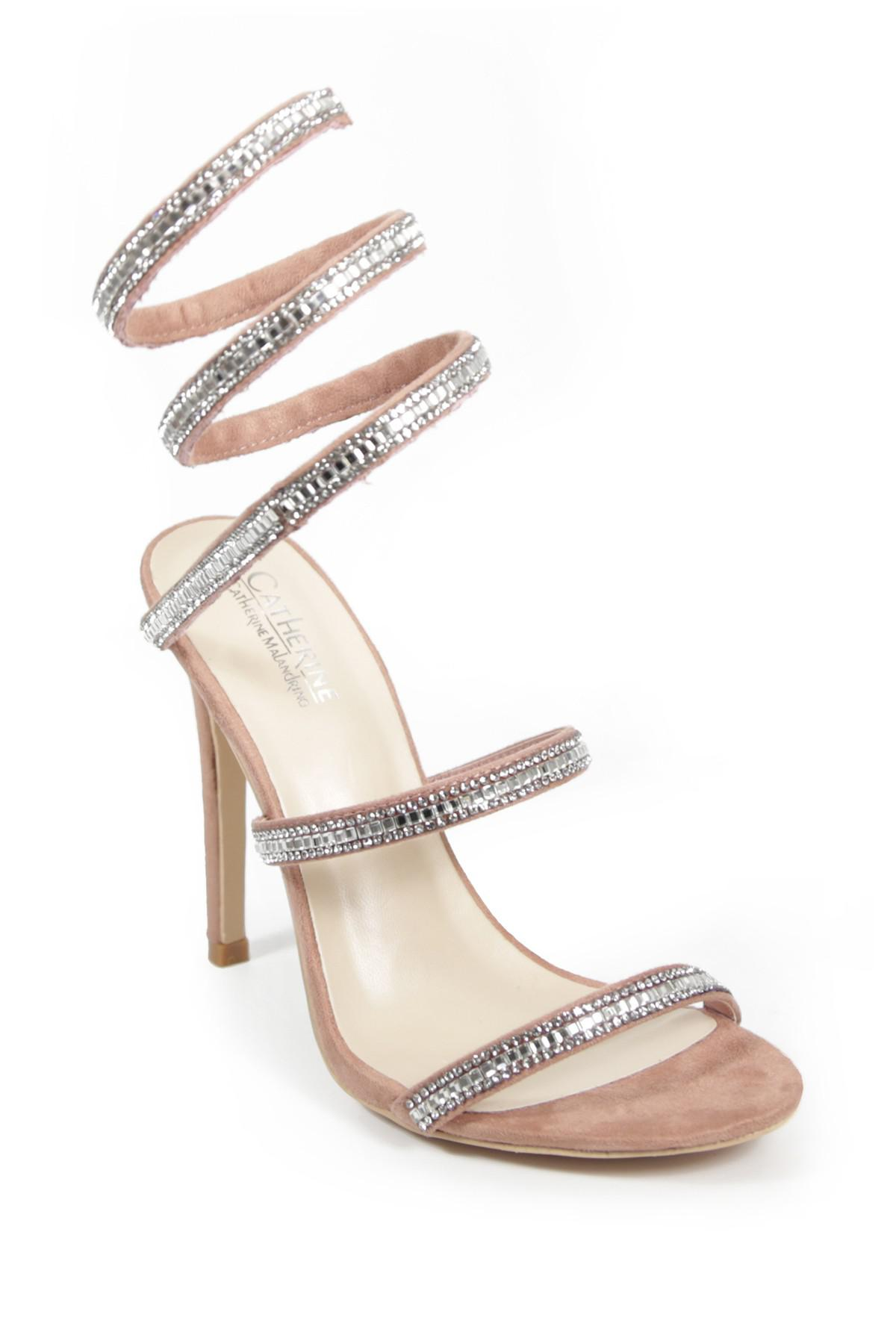 Catherine Catherine Malandrino Click Crystal Embellished Wrapped Stiletto Sandal trX3qK