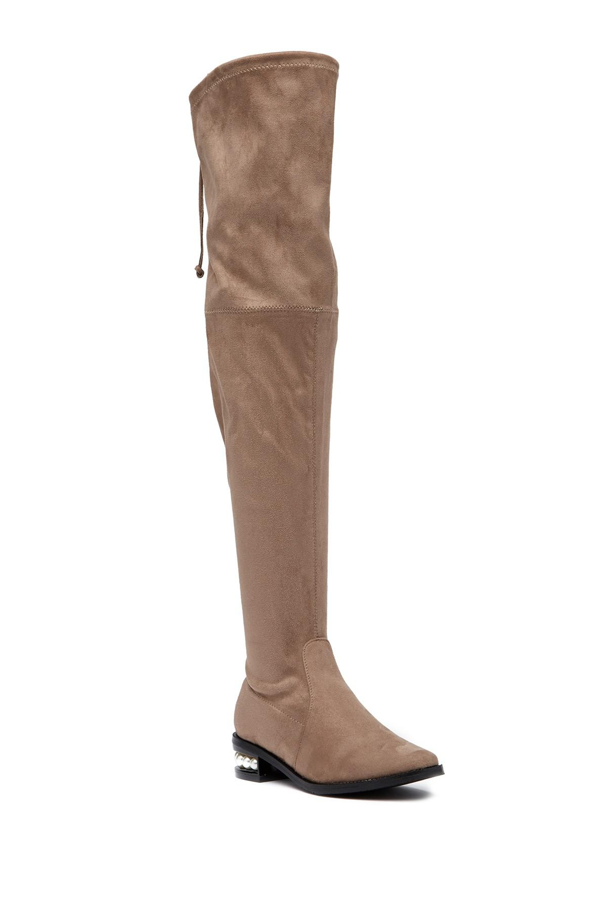 5826f8e8b Catherine Malandrino. Women's Brown Perse Embellished Over-the-knee Boot
