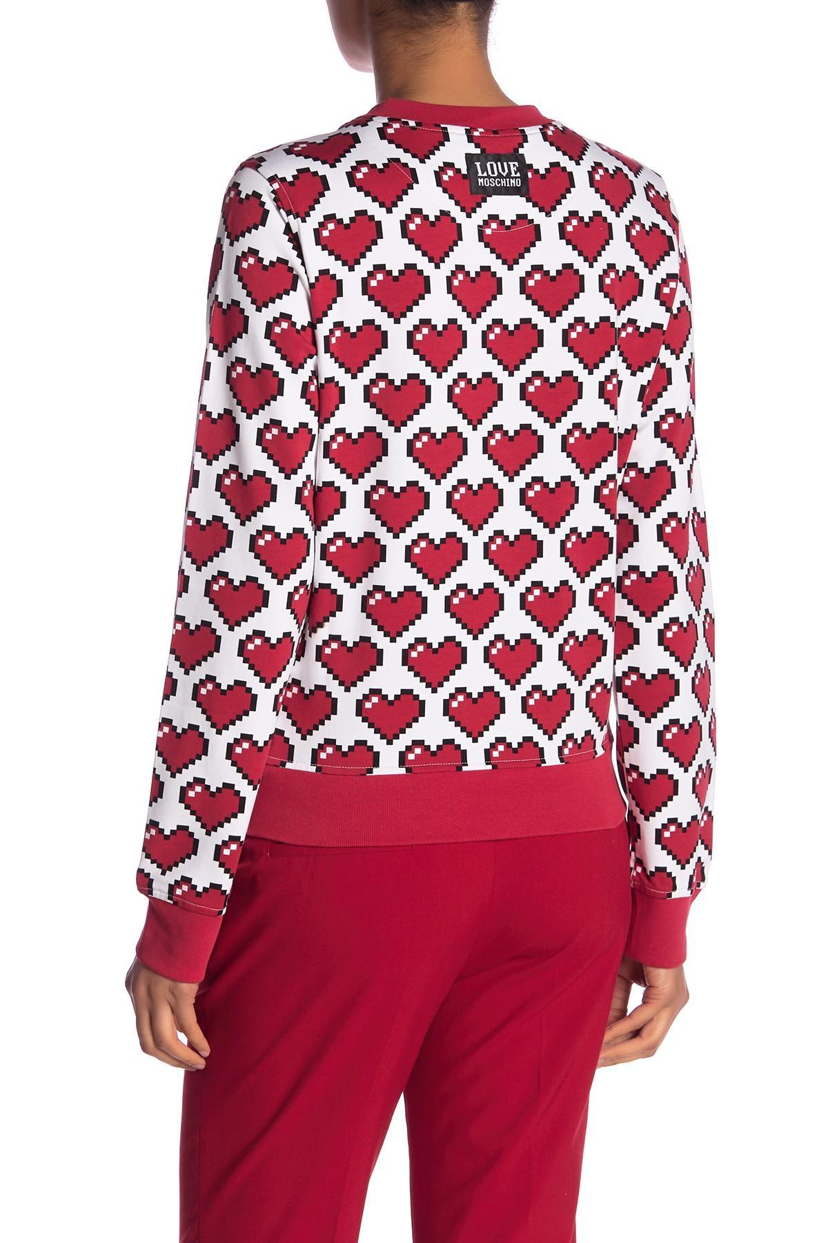 Love Lyst Pullover Felpa Moschino Girocollo Red In SwwqzCxd4