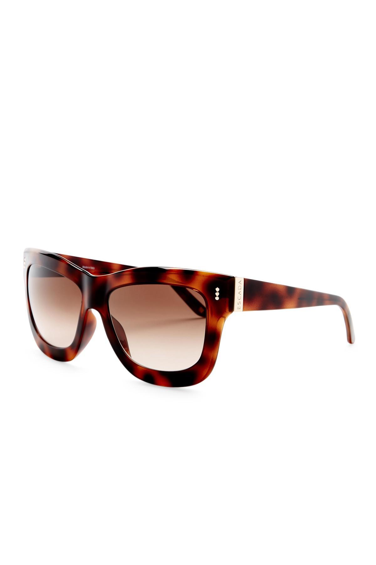 fb87037151 Lyst - ESCADA Oversized Sunglasses in Brown