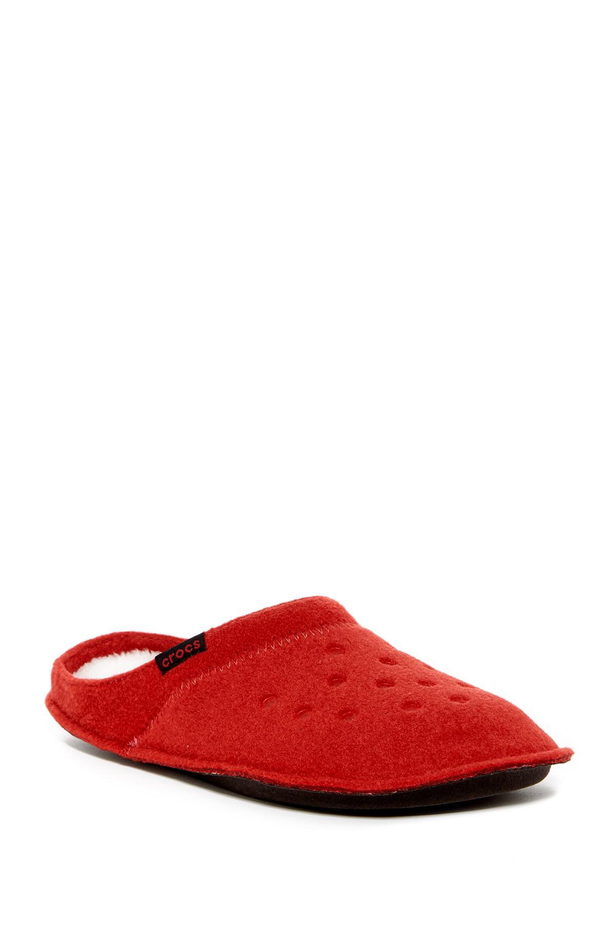 7379a4b78064eb Lyst - Crocs™ Classic Faux Fur Slipper in Red