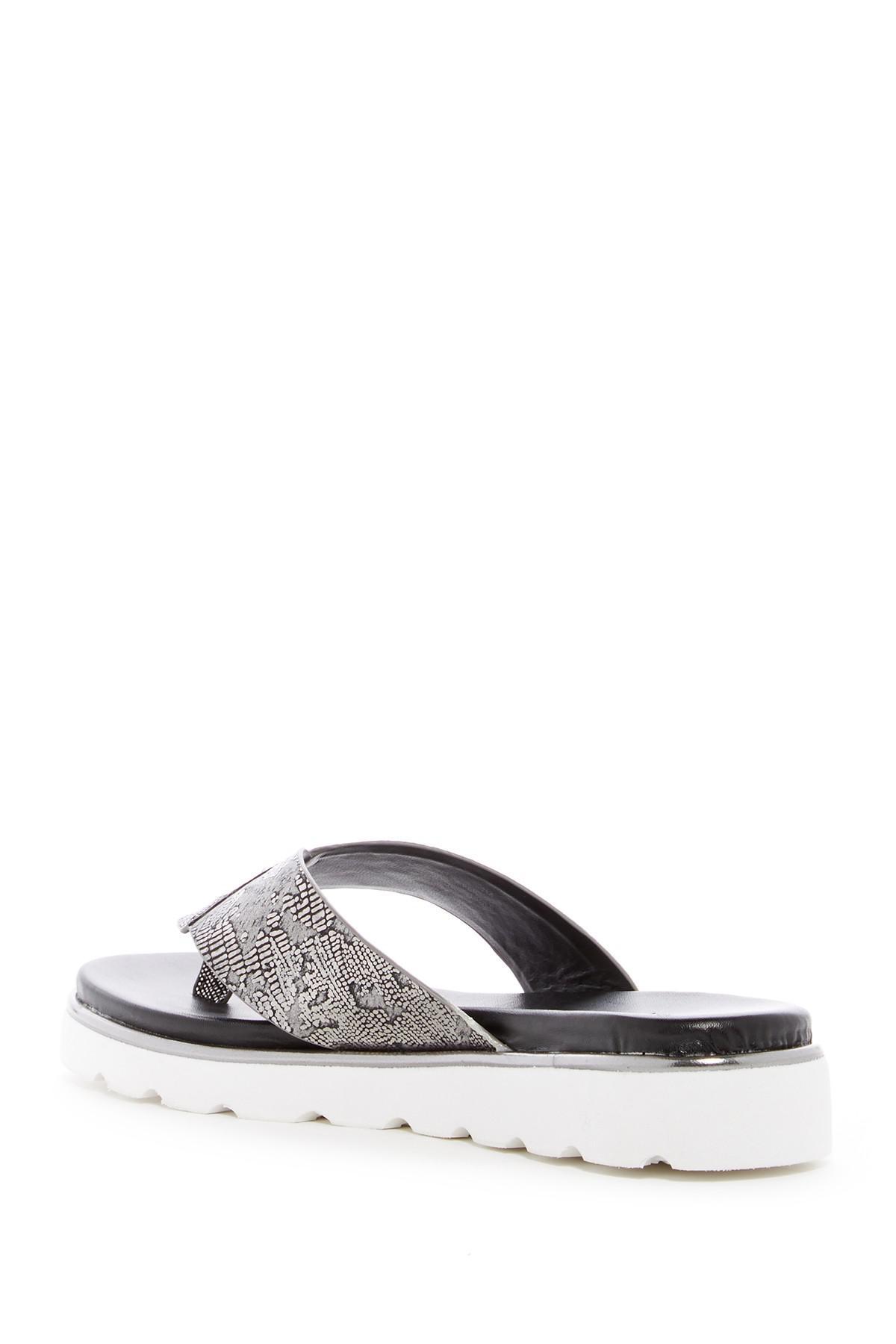 e933cde2c0d3be Lyst - Donald J Pliner Leea Lizard Embossed Sandal
