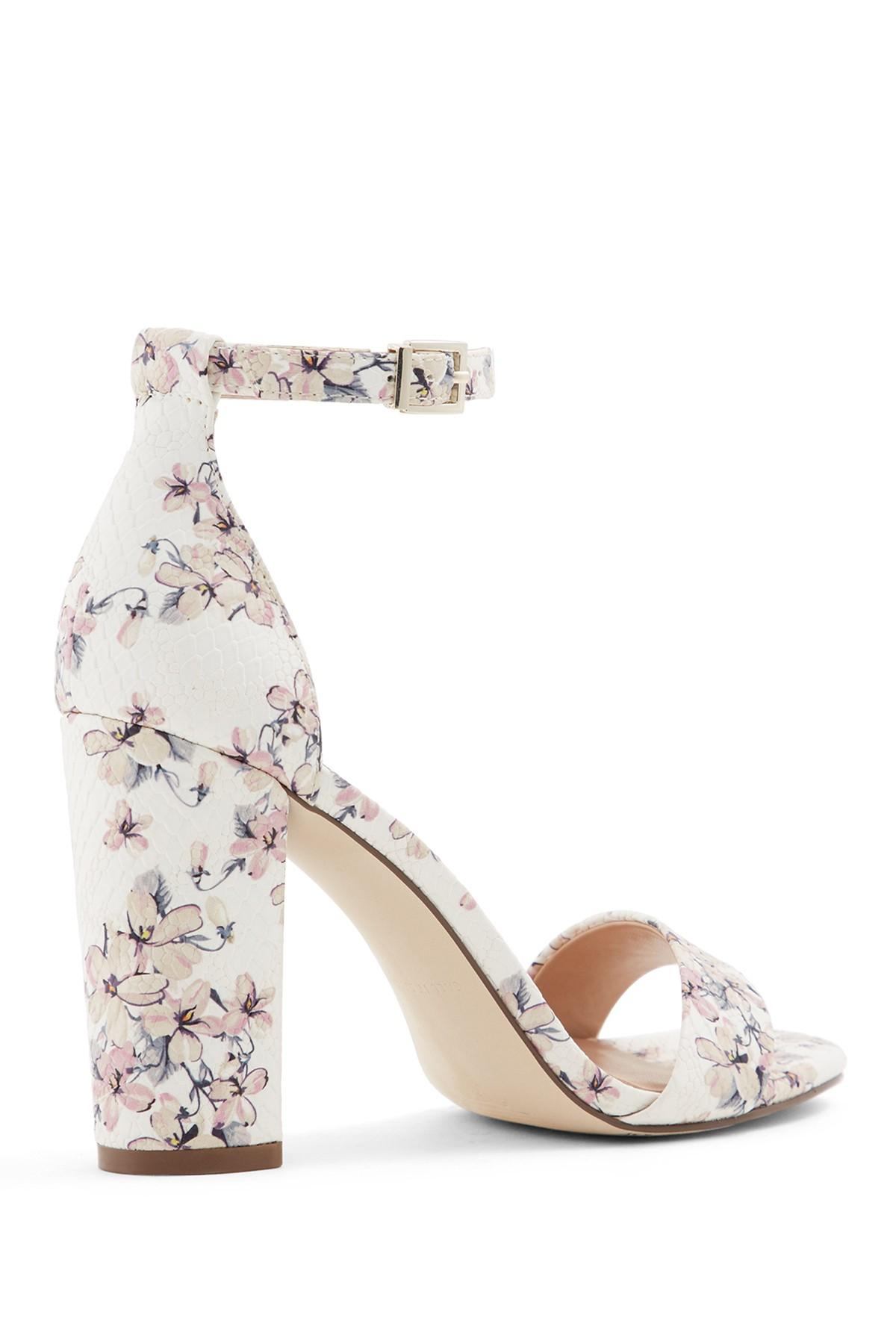 76fc20cfff Call It Spring Tayvia Block Heel Sandal in White - Lyst