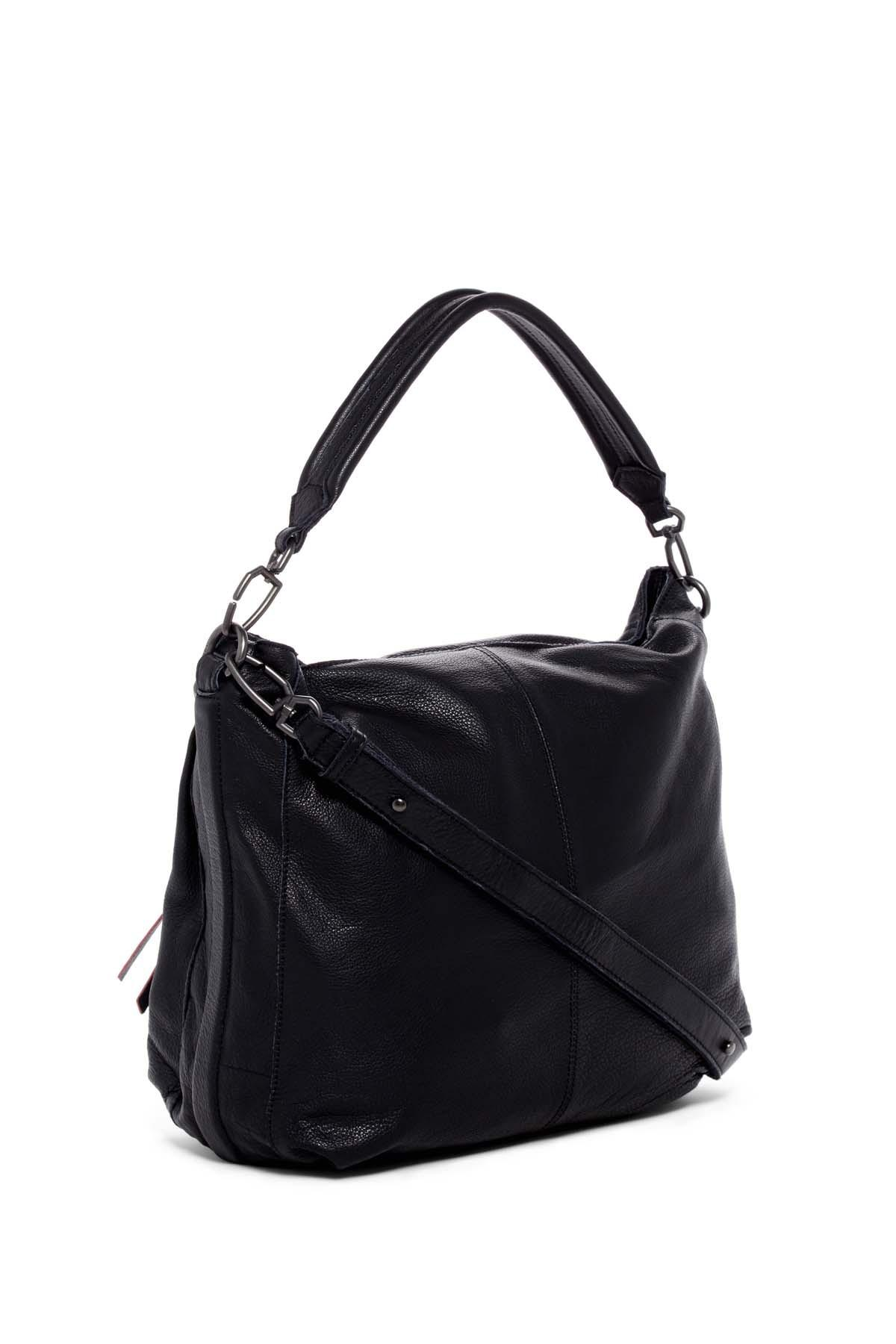 314989c68497 Lyst - Liebeskind Berlin Miramar Sporty Leather Shoulder Bag in Black