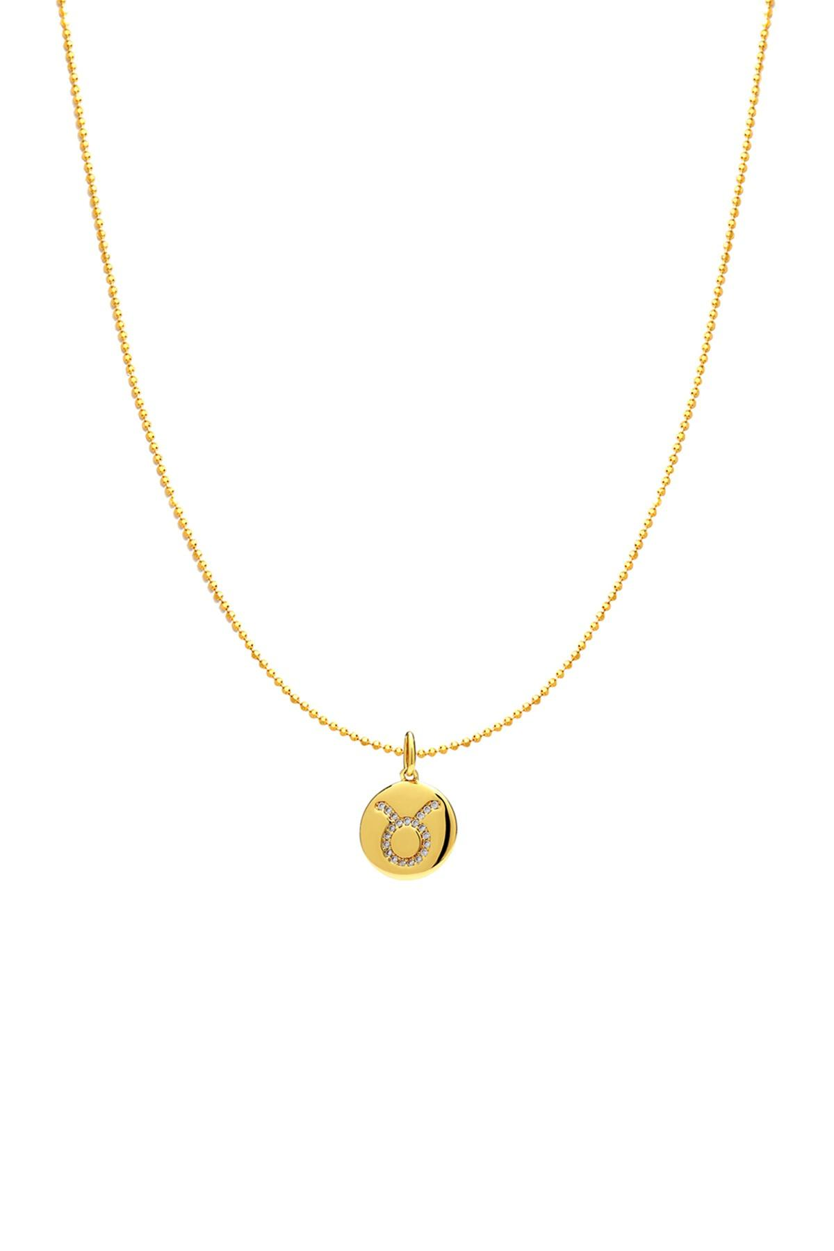 420249af9 Lyst - Nadri 18k Gold Plated Taurus Zodiac Charm Necklace in Metallic