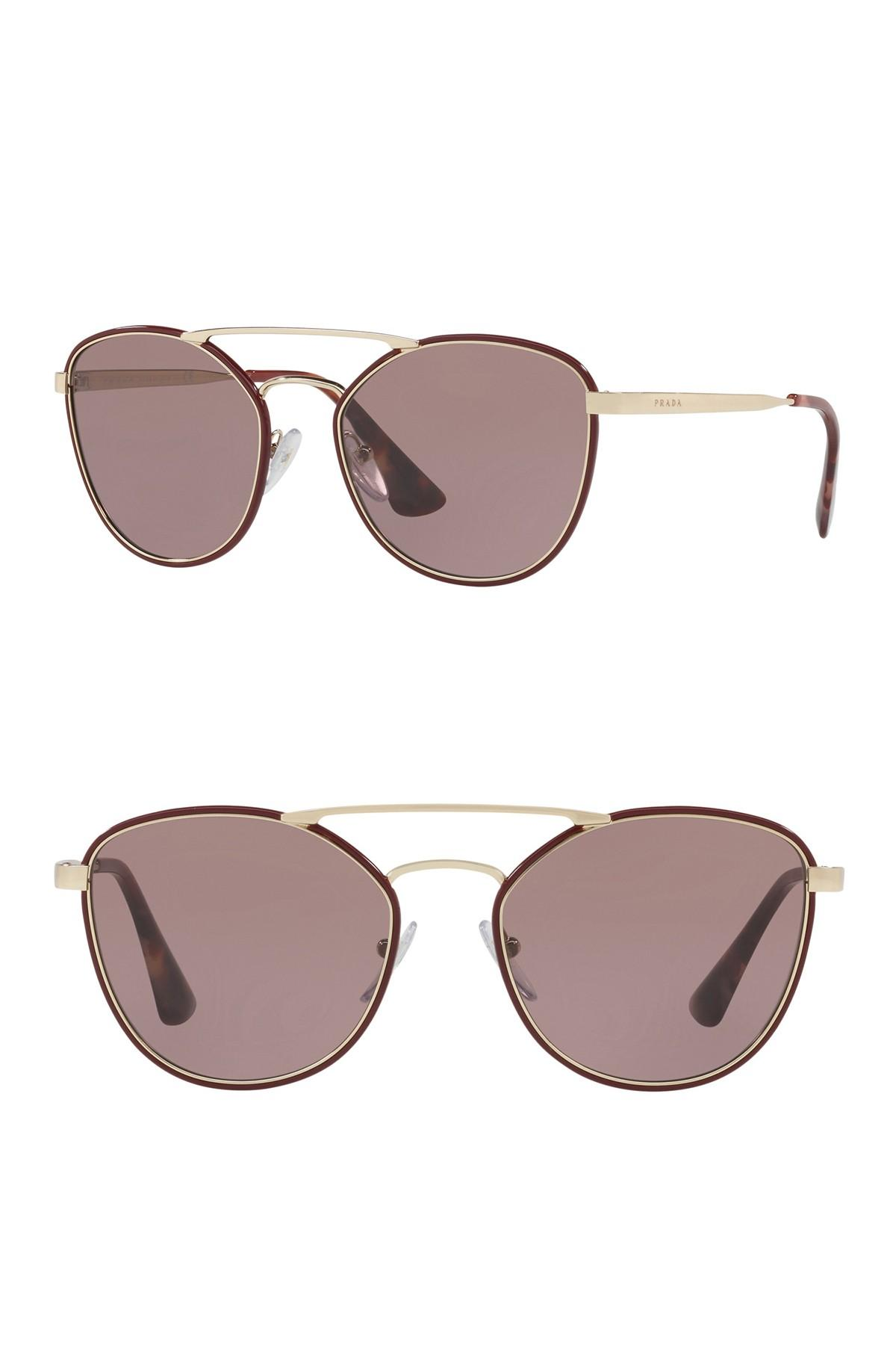 bc601a3a3d Lyst - Prada 55mm Oversized Sunglasses in Brown