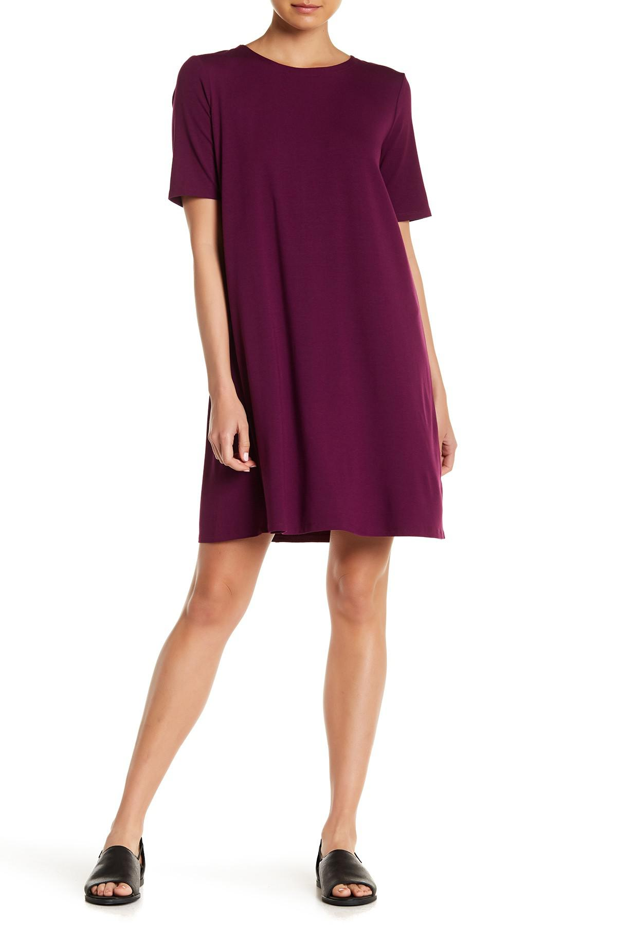 lyst linen sold nordstrom dress line a in clothing fisher previously organic at eileen white gallery rack