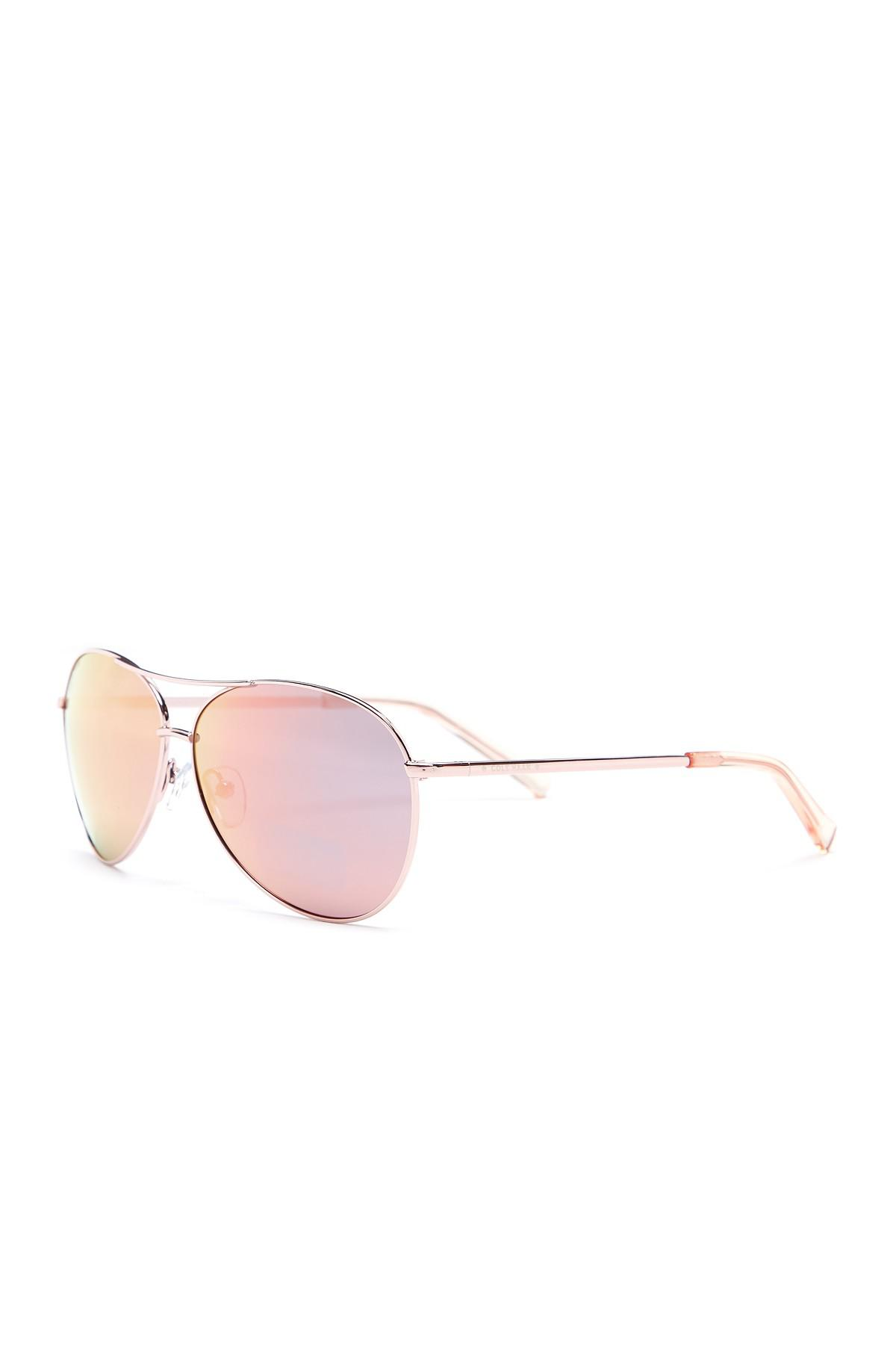 Lyst - Cole Haan Teardrop Aviator Metal Frame Sunglasses