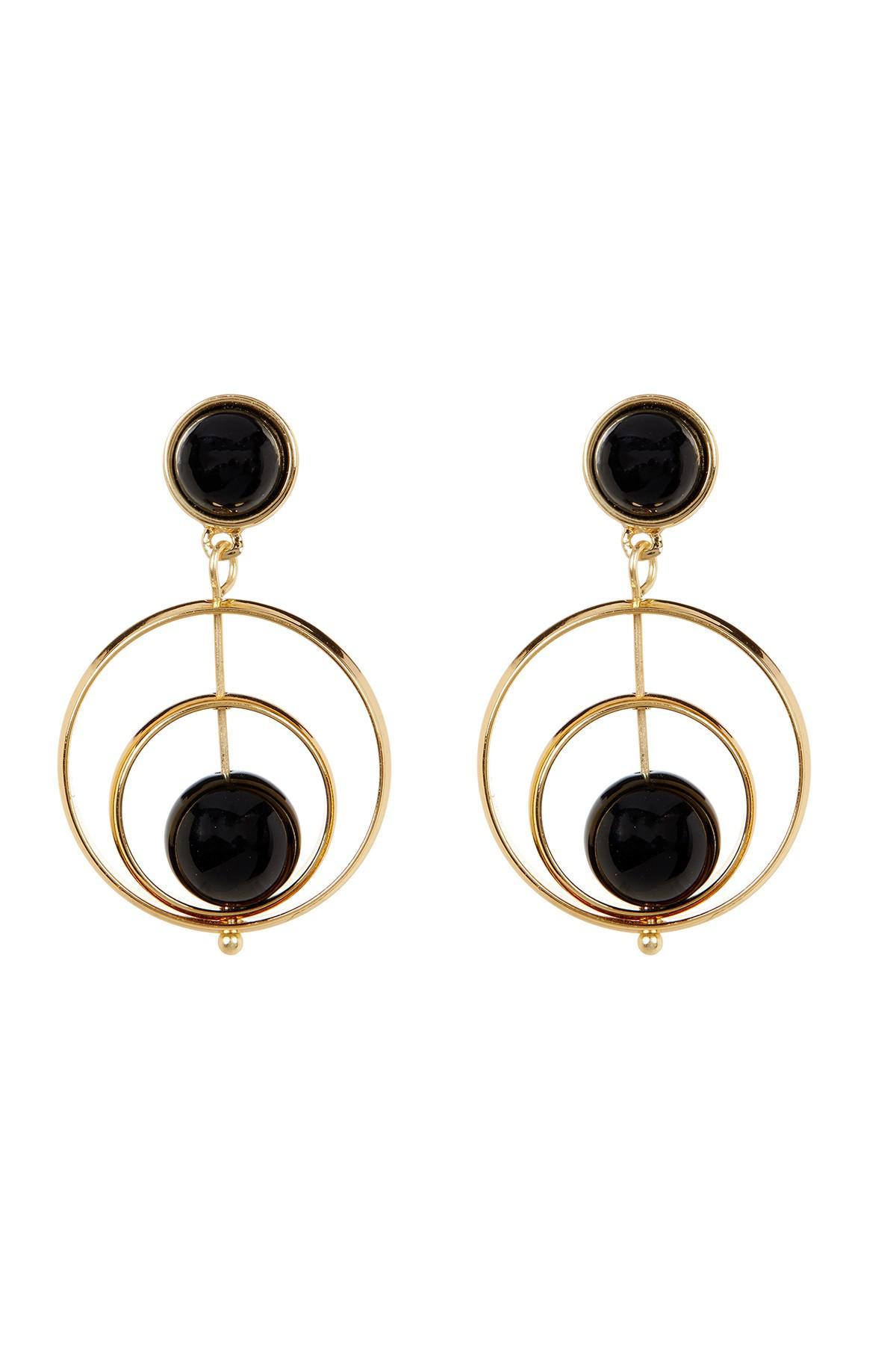 Trina Turk Women S Double Drop Spinning Earrings