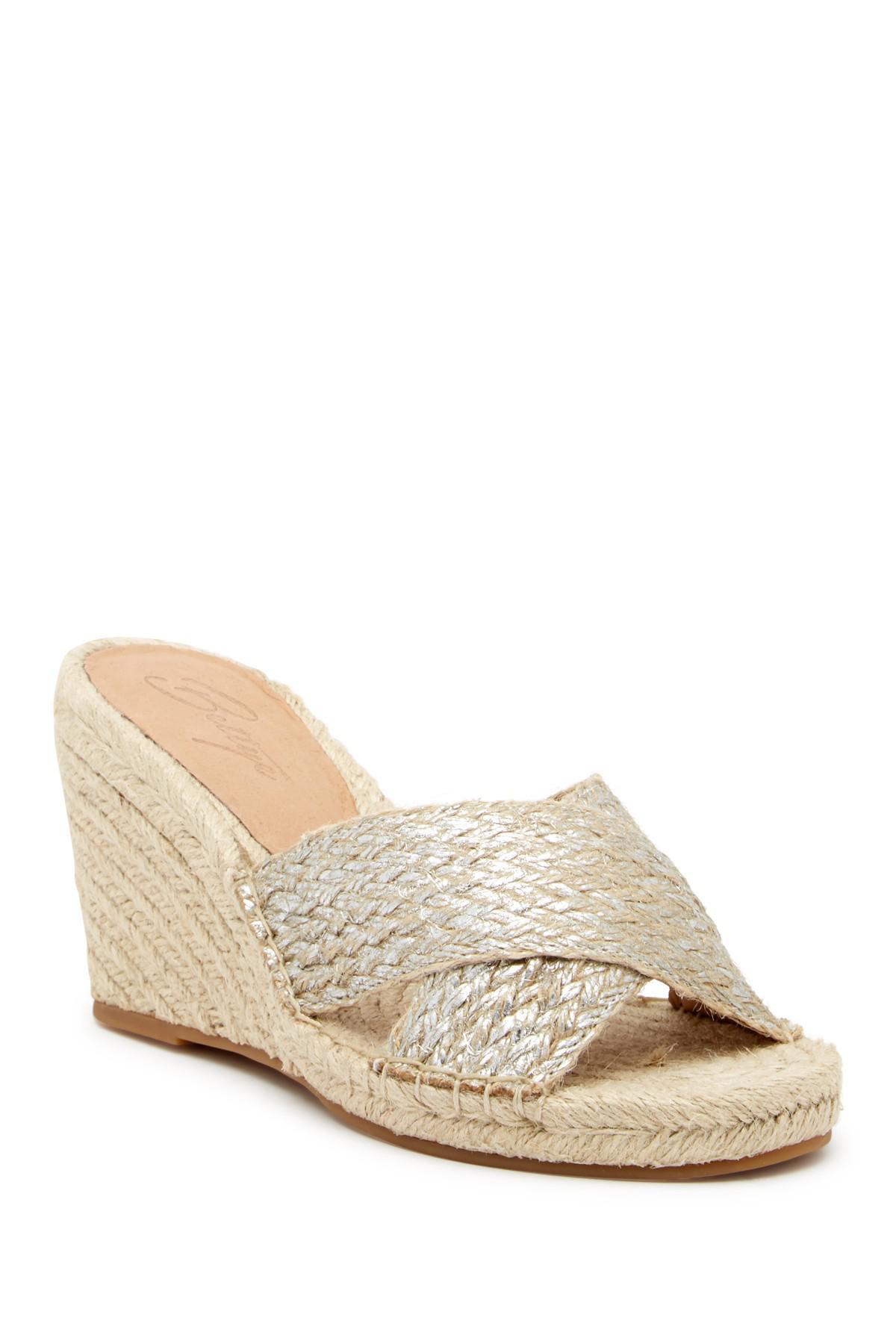 bc4fdc8d0 Lyst - Bettye Muller Hanna Jute Rope Wedge Sandal in Metallic