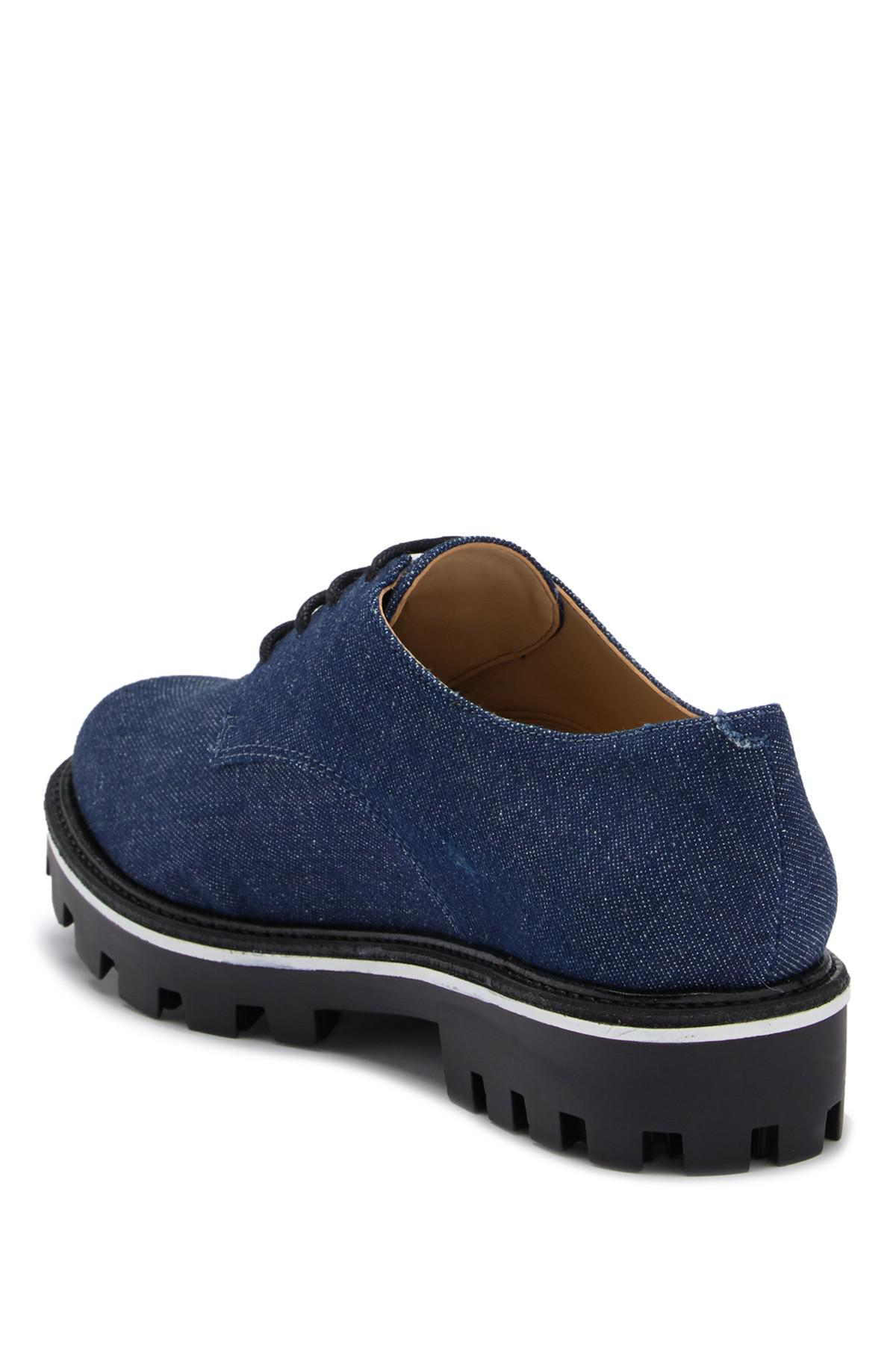2b0374dc22b Lyst - Schutz Luppa Denim Oxford in Blue