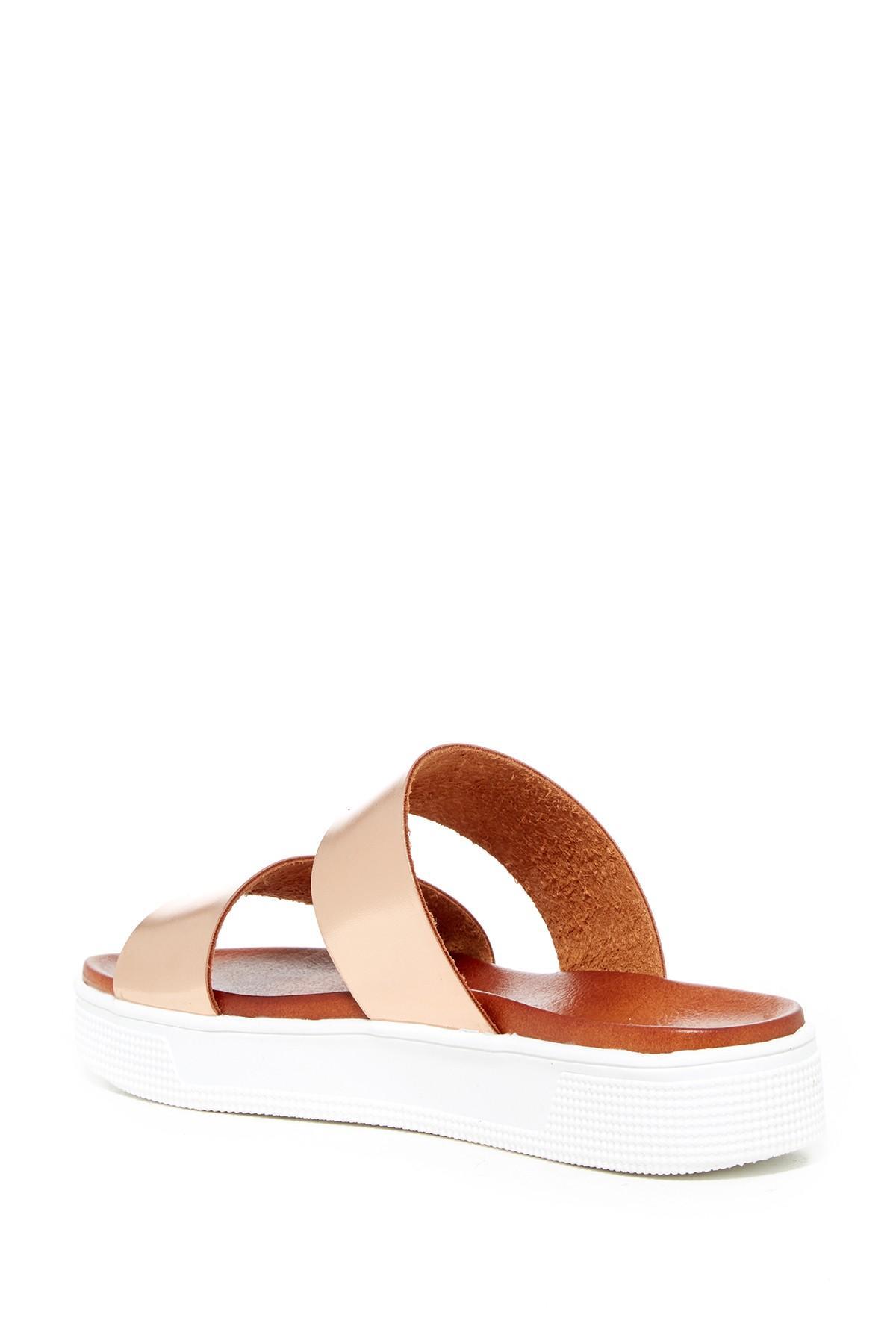 9e4e753ede0 Lyst - MIA Saige Platform Slide Sandal in Brown