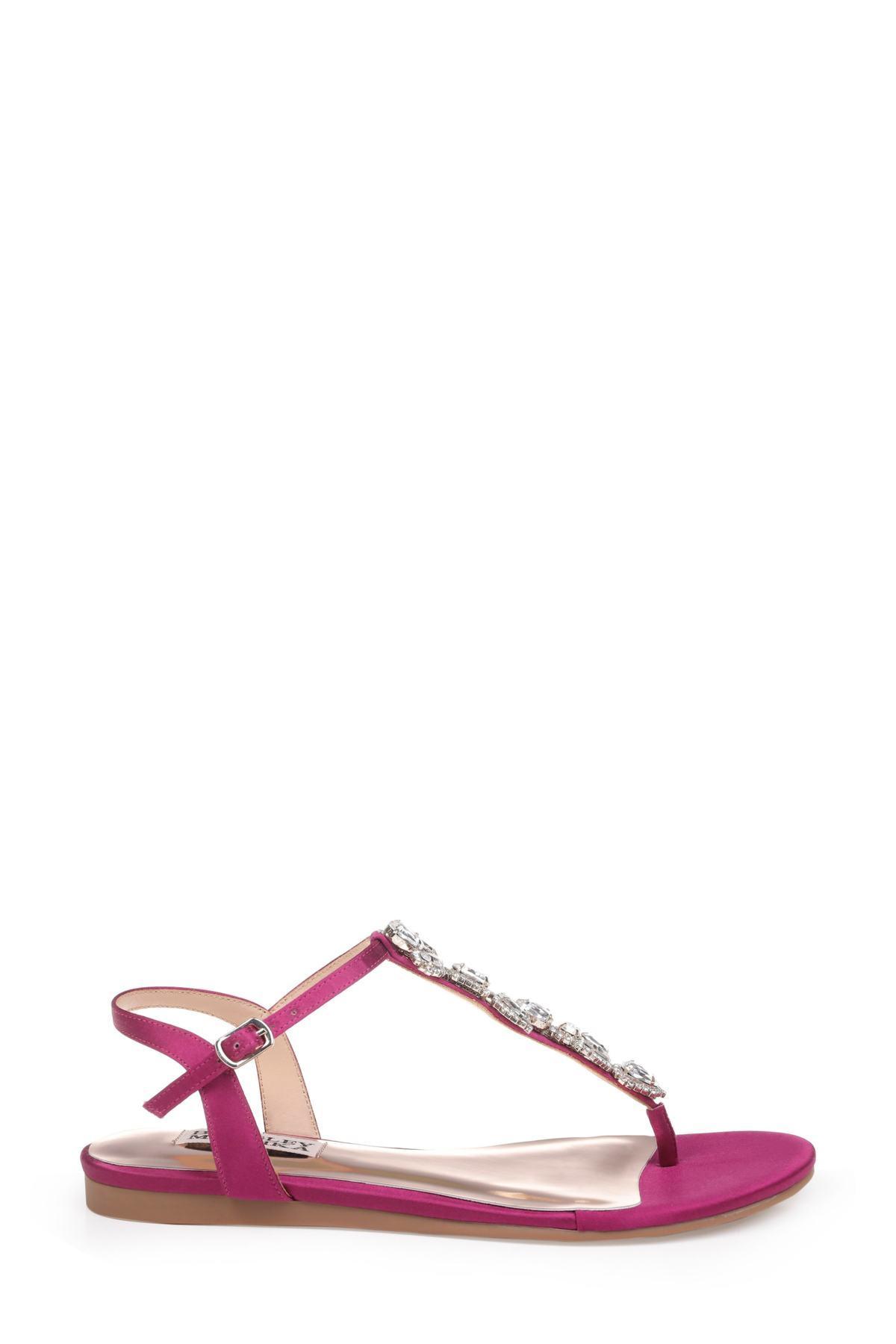 4b7374b8fe2 Badgley Mischka - Pink Sissi Crystal Embellished Sandal - Lyst. View  fullscreen