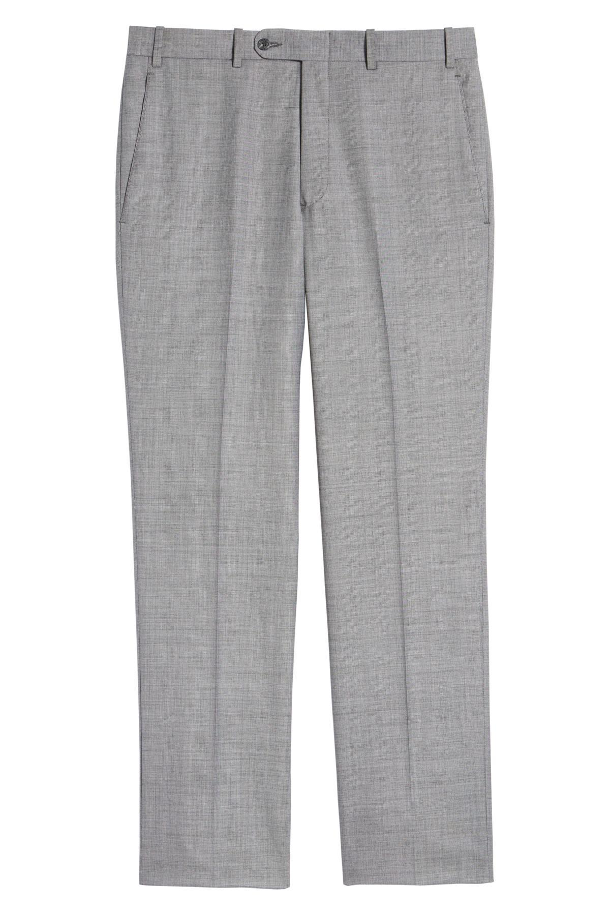 dc01db71a19d7 John W. Nordstrom - Gray (r) Torino Flat Front Solid Wool Trousers for.  View fullscreen