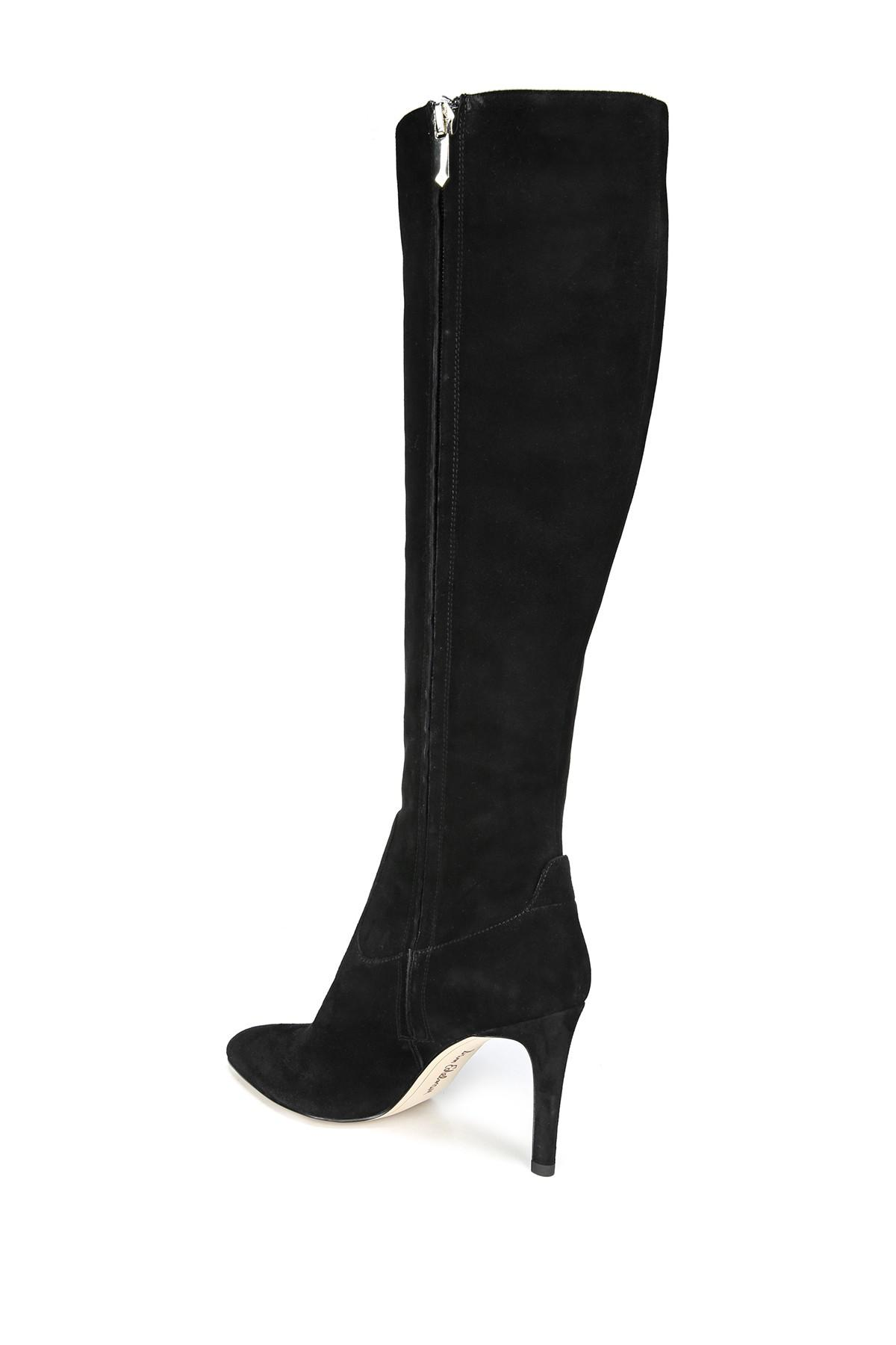 fab228d1c02 Sam Edelman - Black Olencia Suede Leather Knee High Boot - Lyst. View  fullscreen