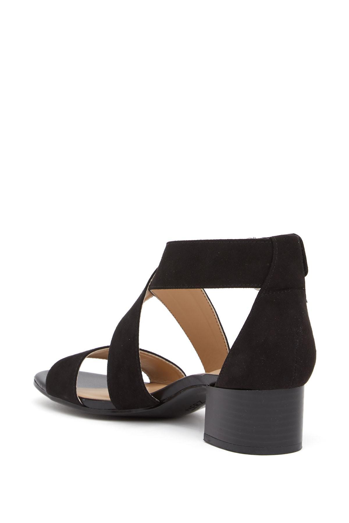 9fc95e8a30e0 Naturalizer - Black Adele Block Heel Sandal - Wide Width Available - Lyst.  View fullscreen