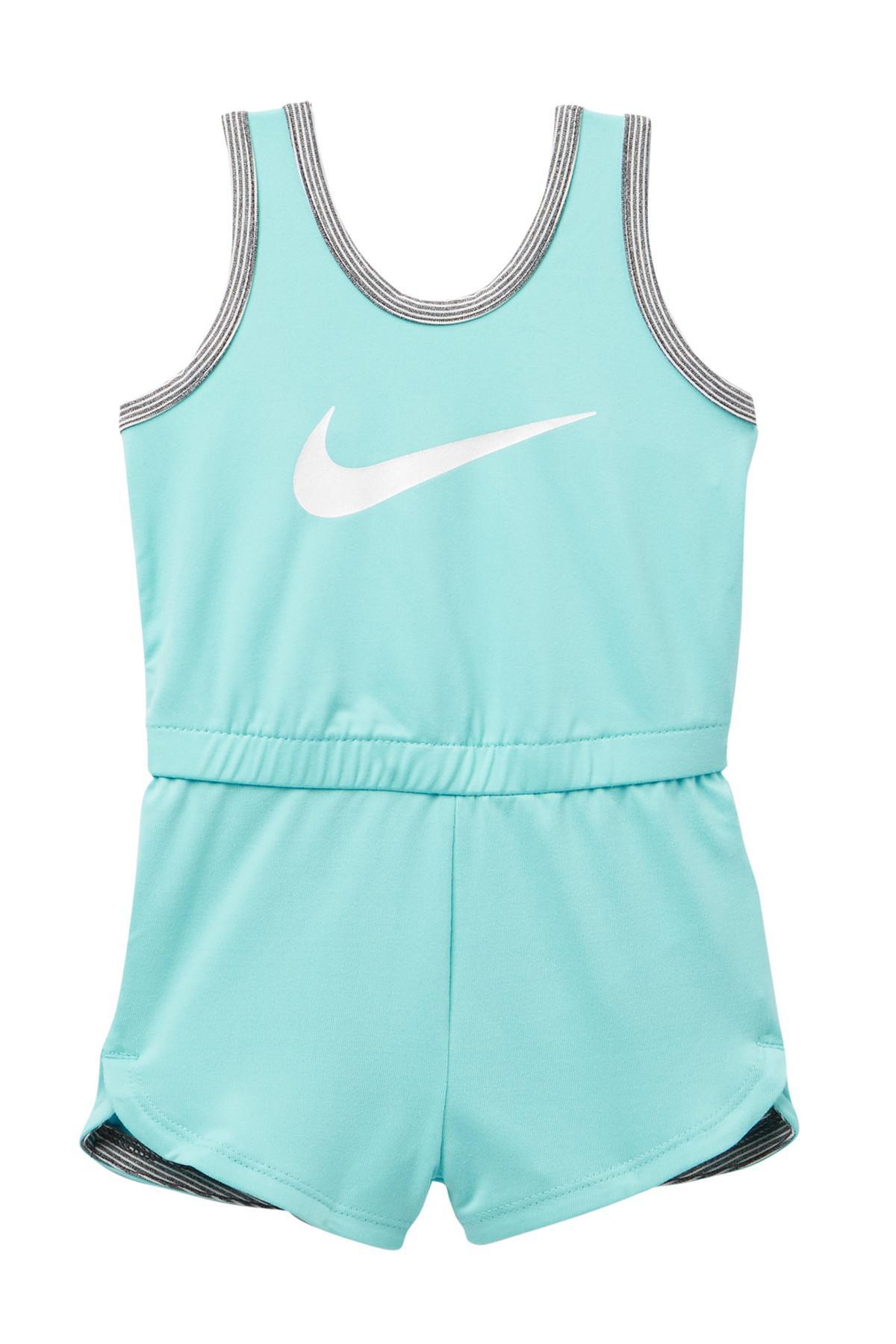 aff1f1a46623 Lyst - Nike Dri Fit Sport Essentials Romper (baby Girls) in Blue