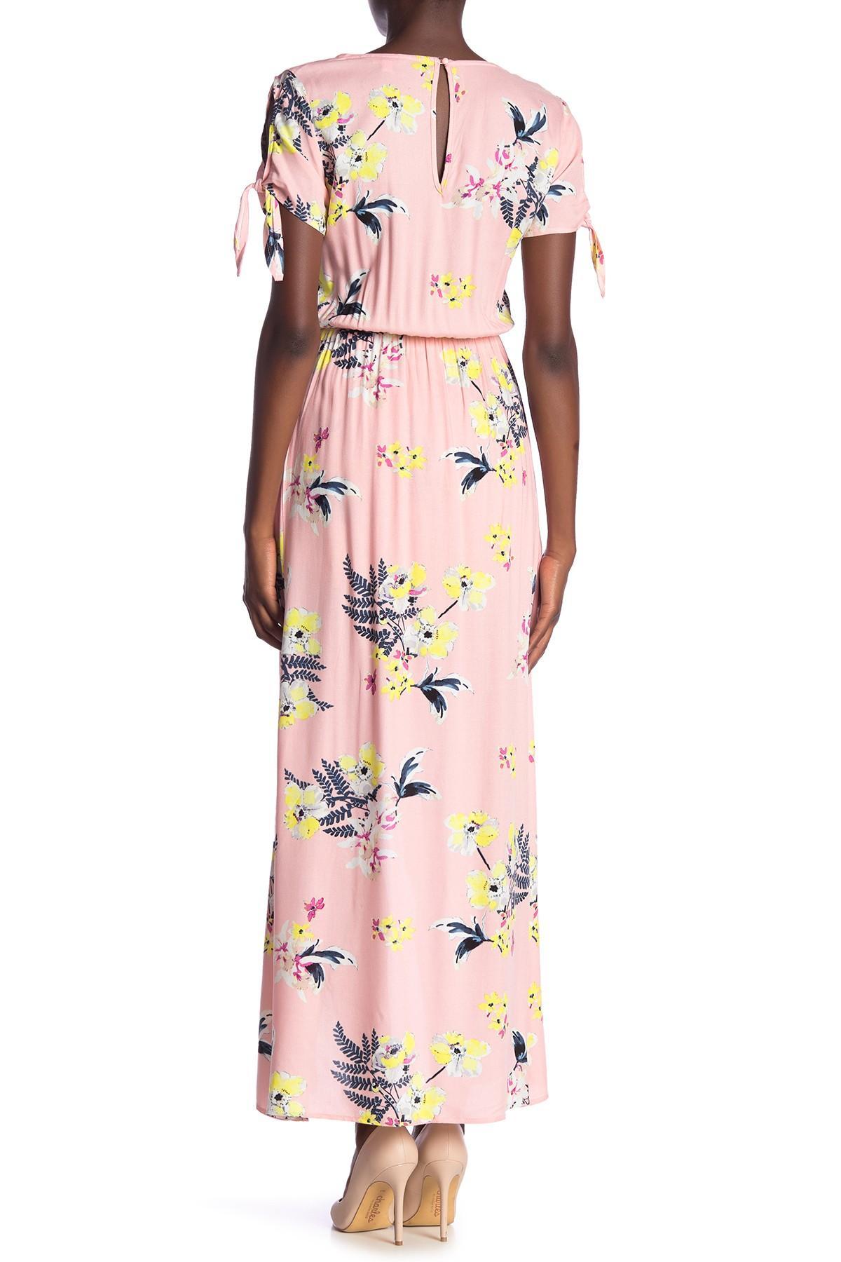 cbdce6a5739 BB Dakota - Pink Anaya Floral Print Overlay Romper - Lyst. View fullscreen