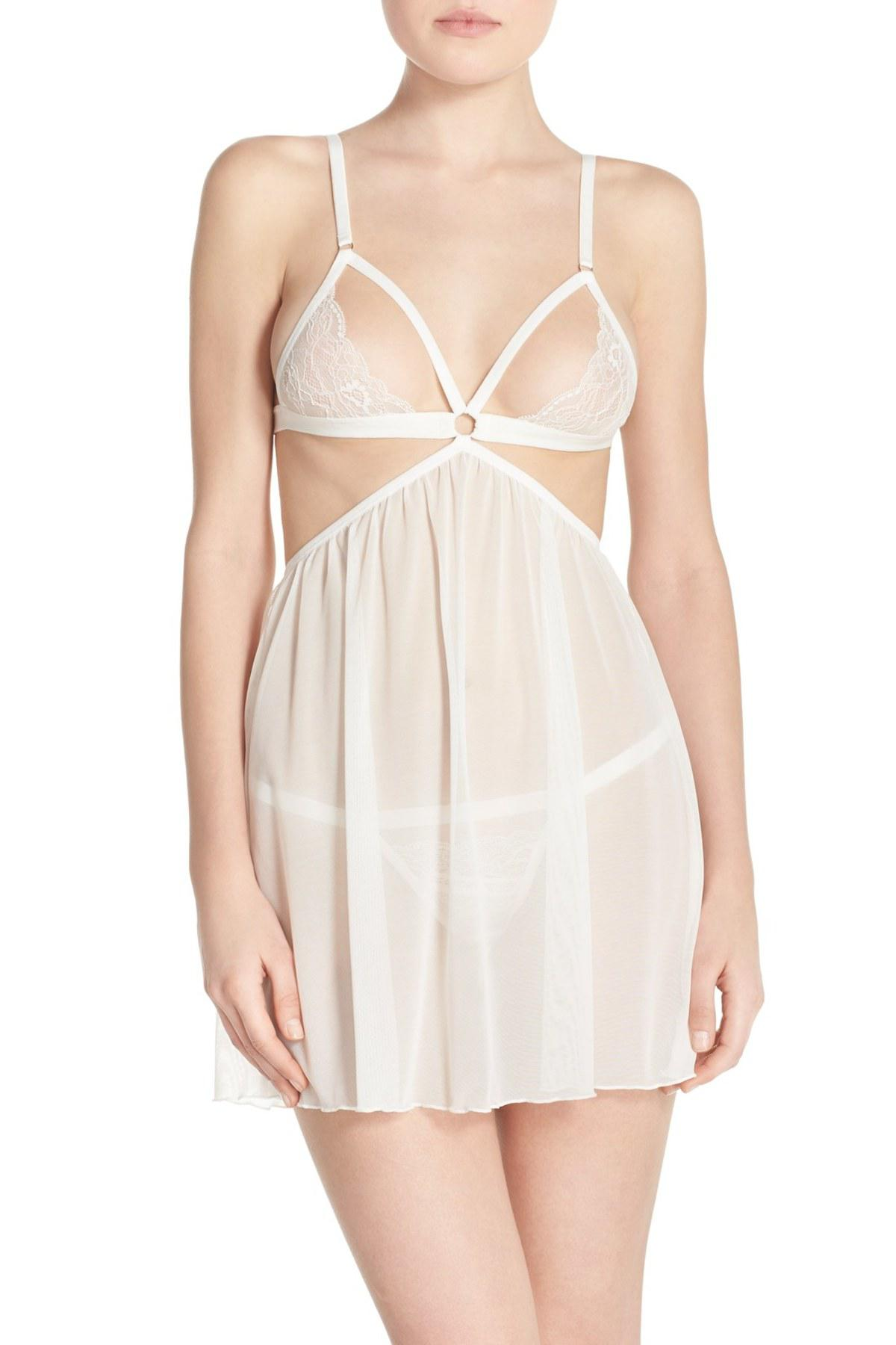 4739d39bc9f0 Lyst - Honeydew Intimates Lucy Open Cup Babydoll & G-string - 2 ...