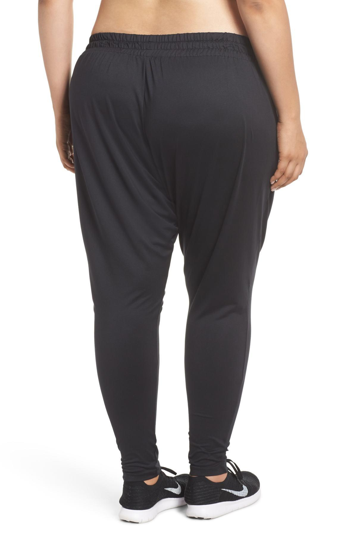 85d7117cf25a Lyst - Nike Dry Lux Flow High Rise Training Pants (plus Size) in Black