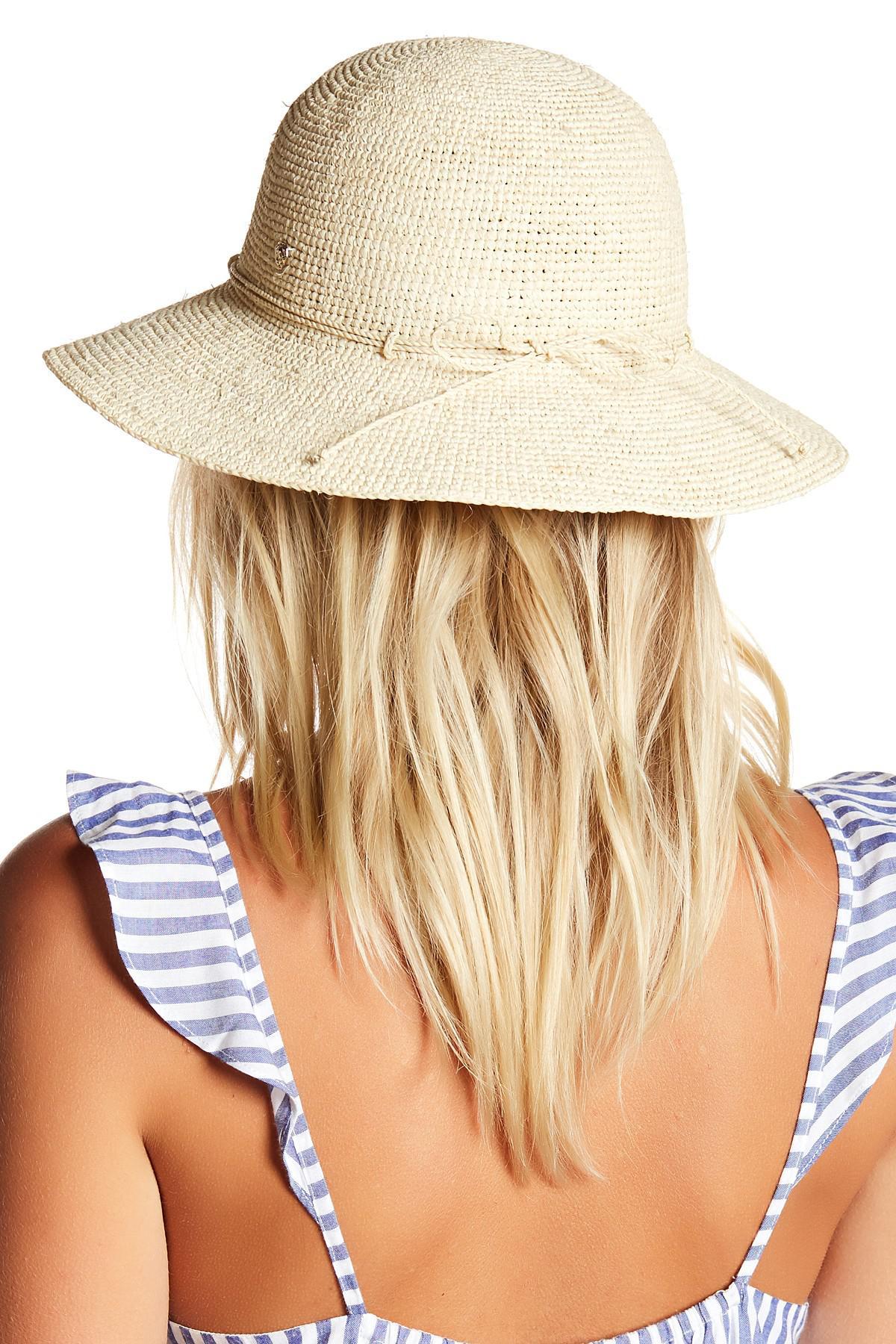 Lyst - Helen Kaminski Caicos Hat in Brown 80c01f41d479