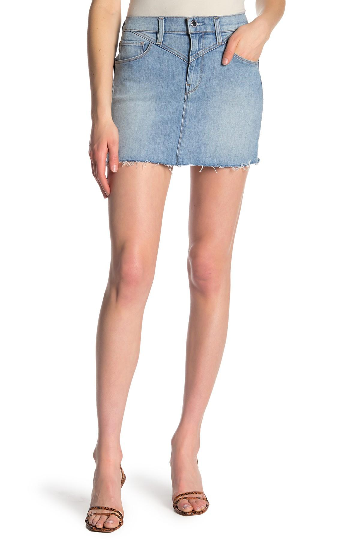 9e5166876 Lyst - Hudson Jeans The Viper Mini Skirt in Blue