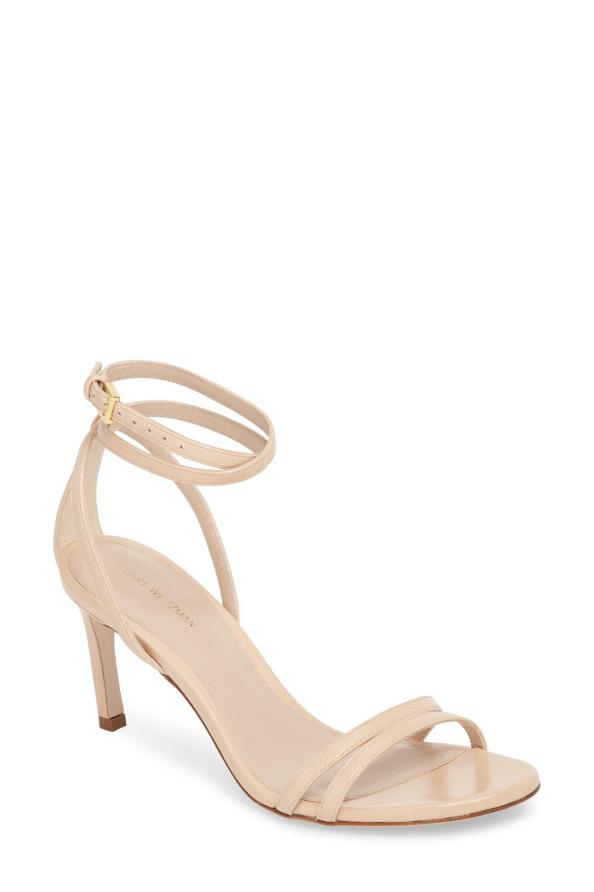 00794c6bd0684 Lyst - Stuart Weitzman Lexie Leather Sandals