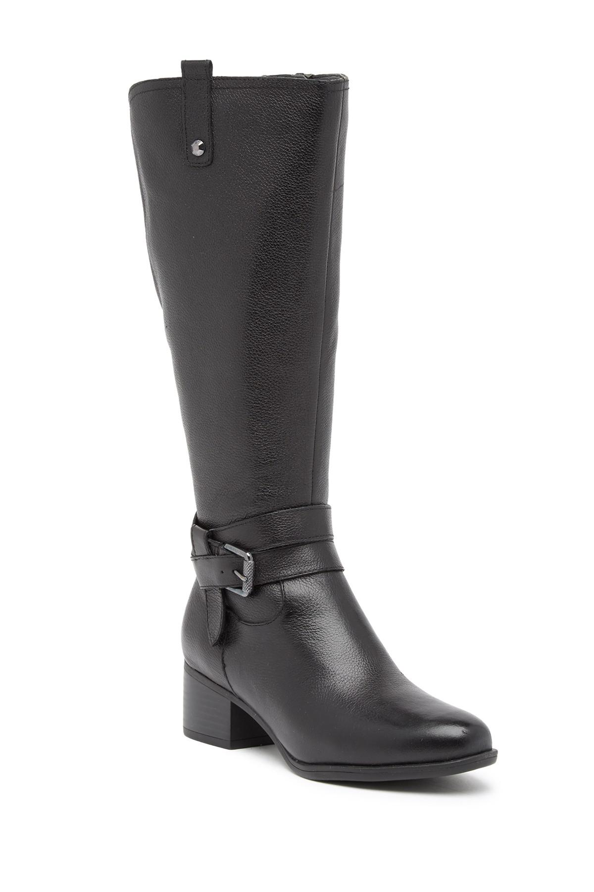 1bc06e4cda6a Naturalizer. Women s Black Kim Ankle Strap Leather Boot - Wide Width  Available
