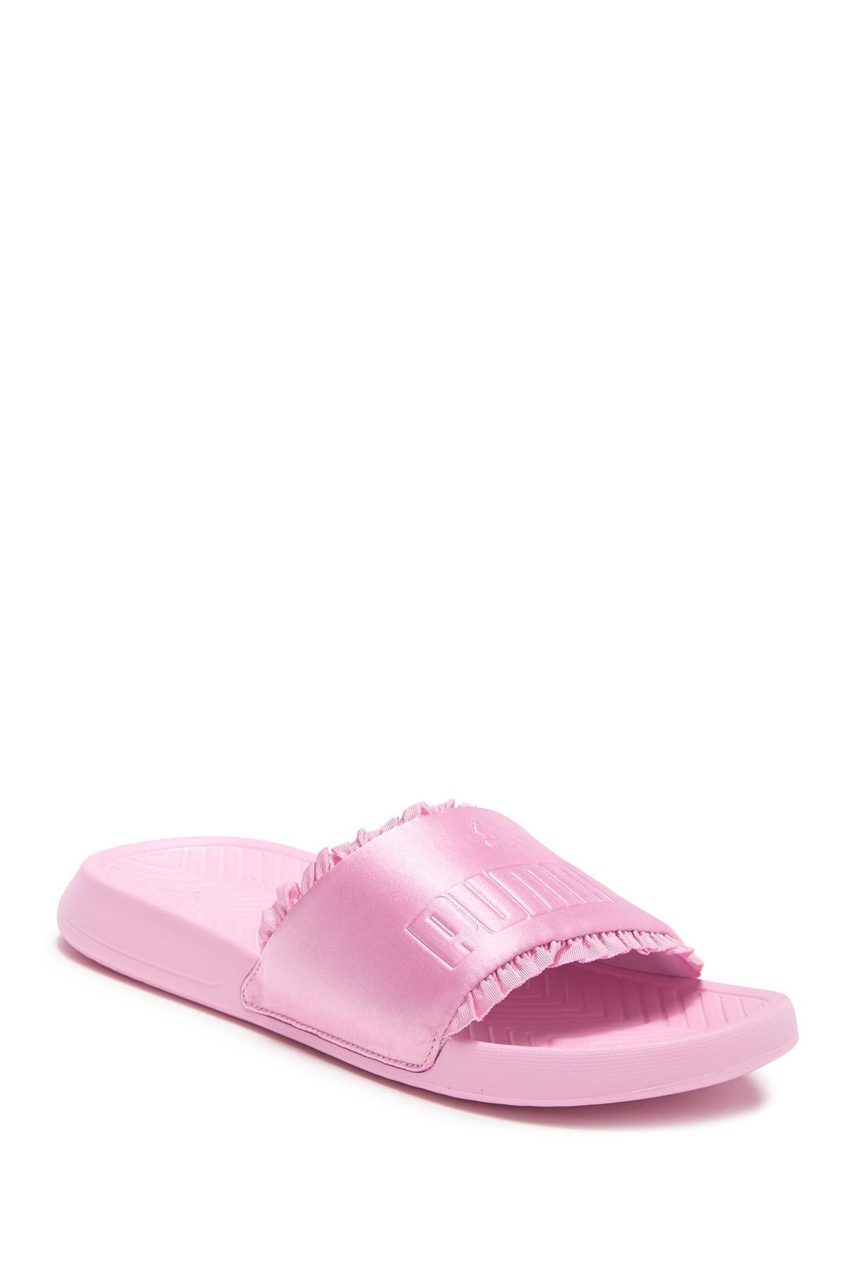 2a03a3490b7 Lyst - PUMA Popcat Satin Slide Sandal in Pink