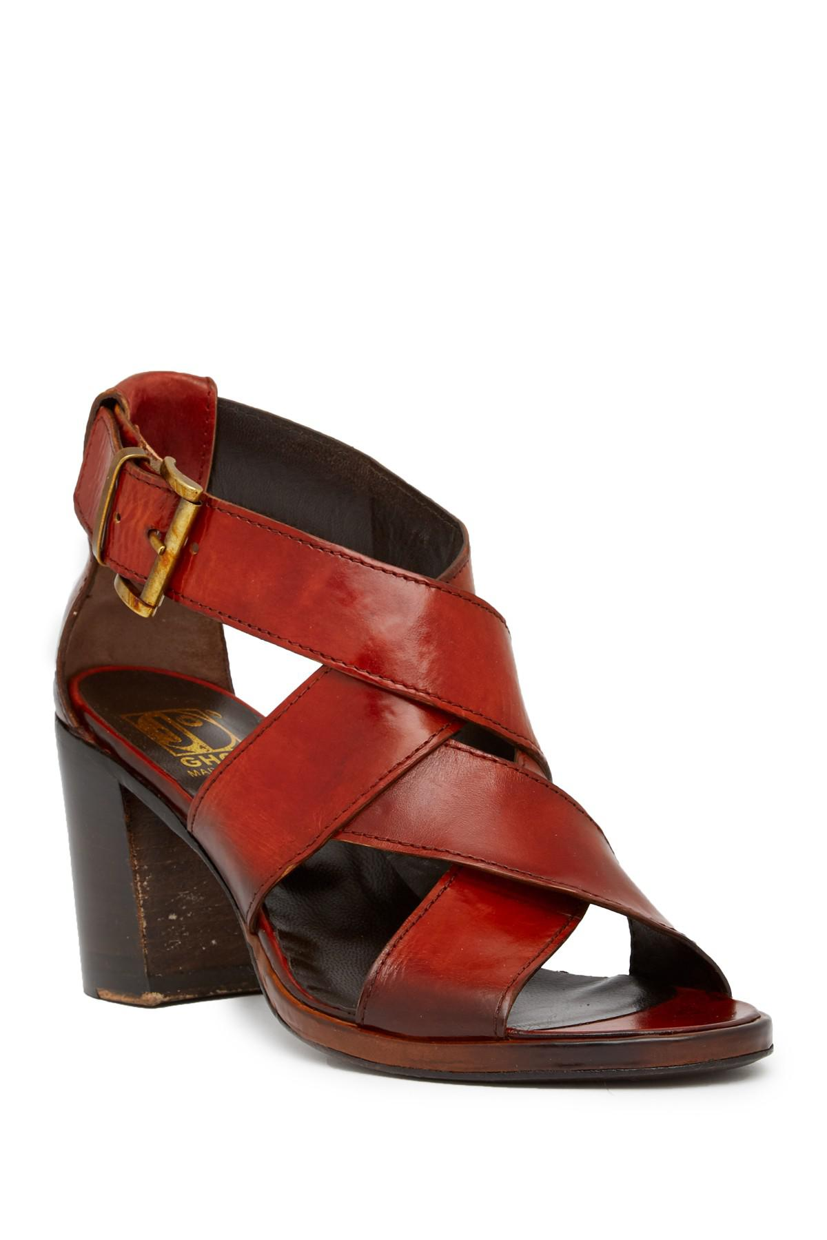 Lyst - Jo Ghost Crisscross Mid Heel Sandal in Red