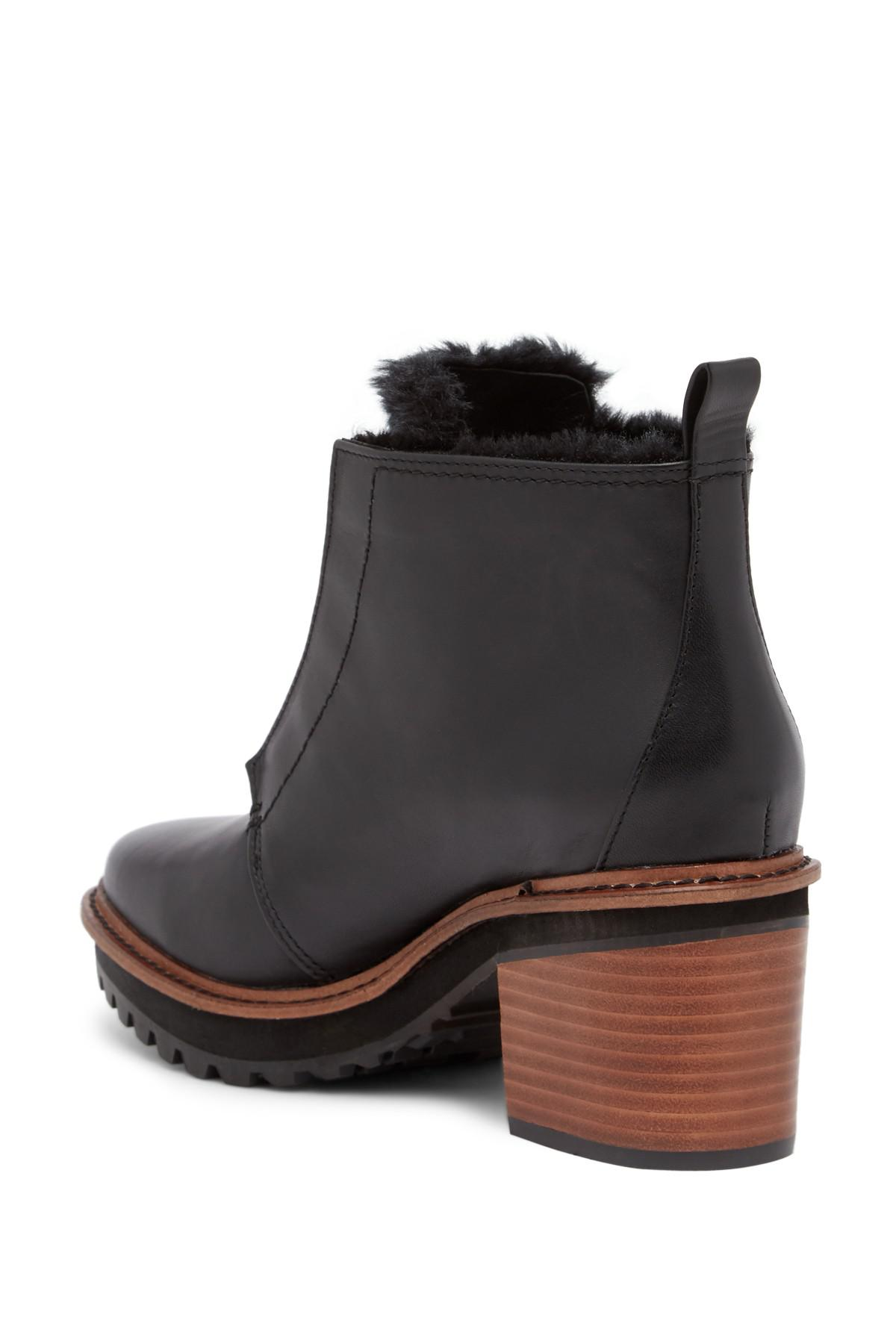 9d7b512a9412c Kelsi Dagger Brooklyn Patterson Faux Fur Lined Leather Boot in Black ...