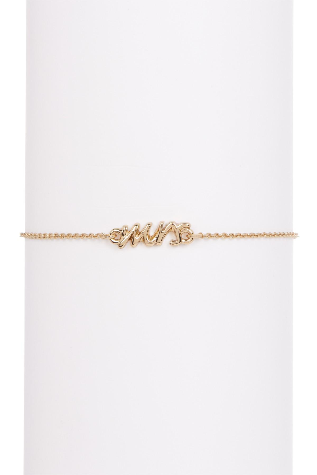 Kate Spade Say Yes Mrs Script Bracelet In Metallic Lyst