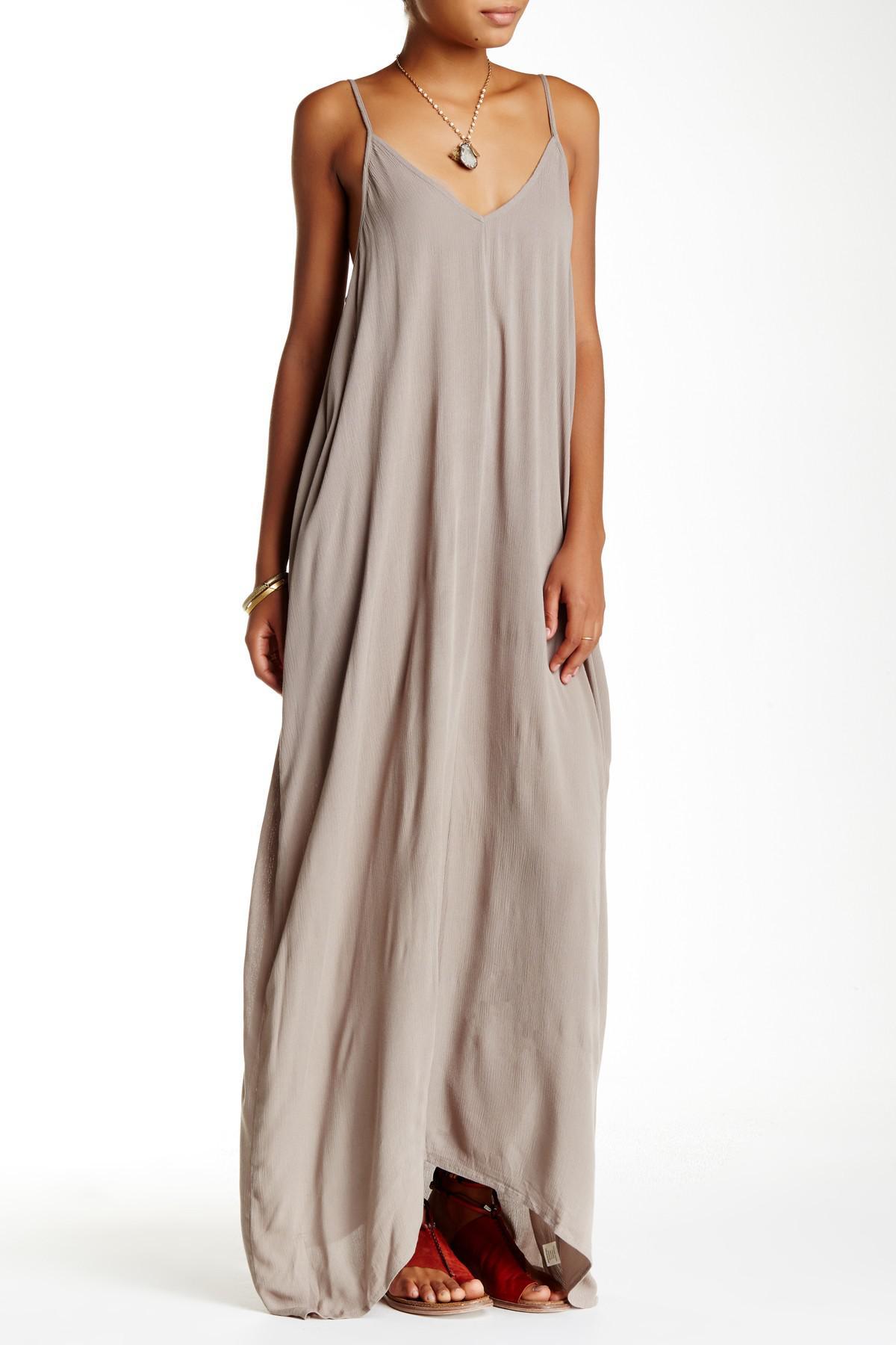 Lyst - Love Stitch Gauze Maxi Dress