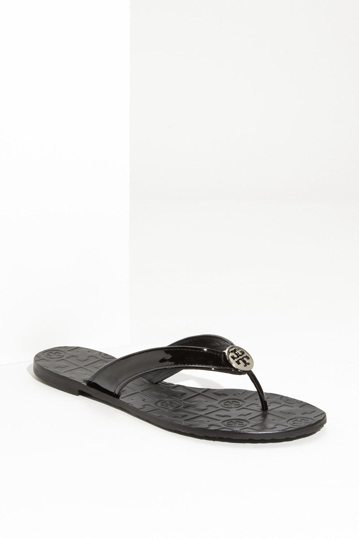 6f6c6e937a29 Lyst - Tory Burch Thora Thong Sandal in Black