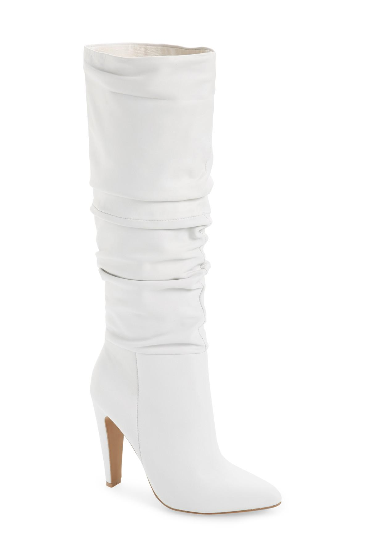 d4ec742515d Steve Madden Carrie Slouchy Boot in White - Lyst