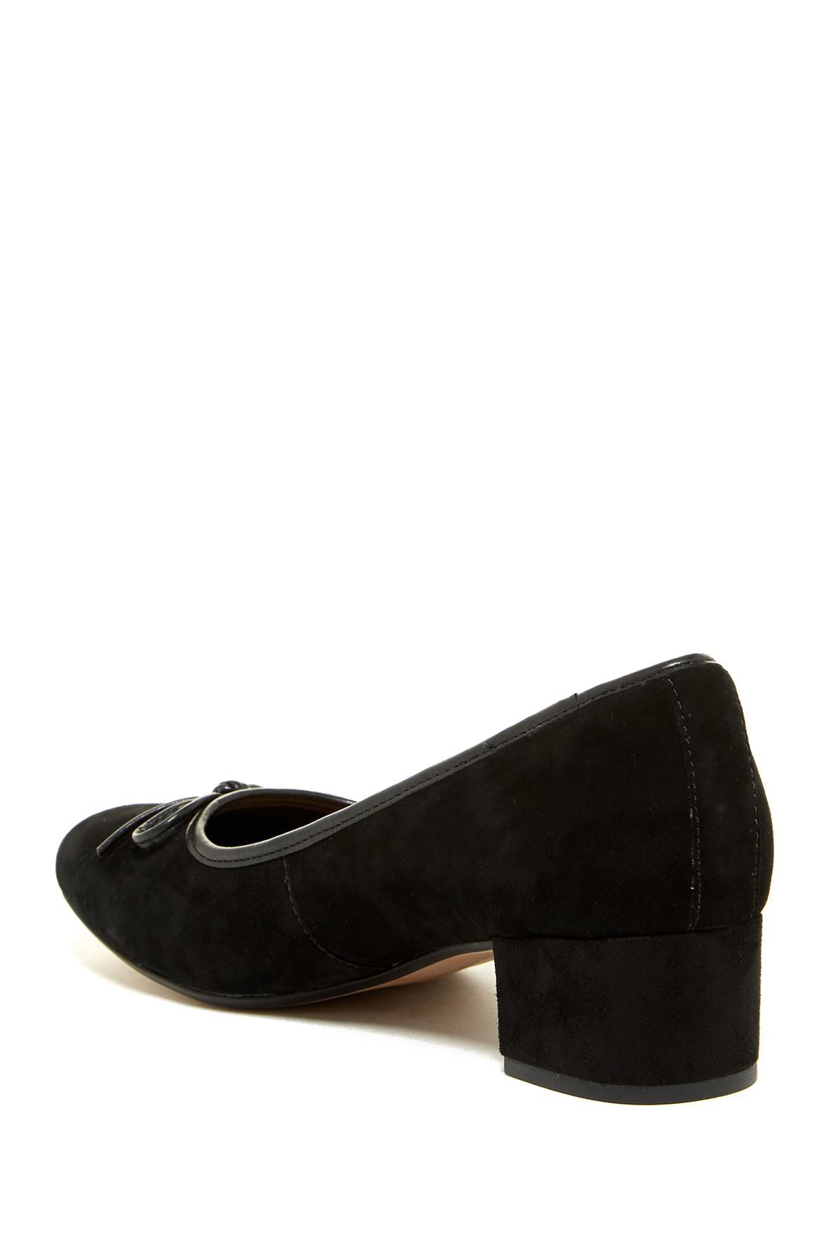 Lyst Clarks Chartli Daisy Suede Pump Wide Width Available In Black
